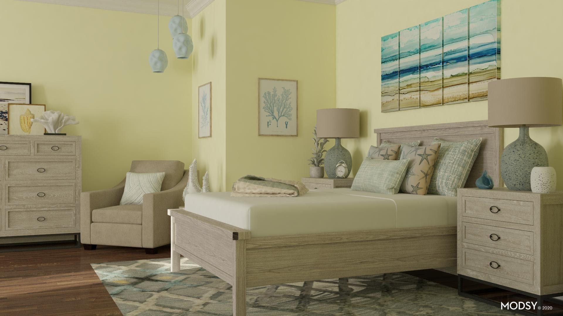 Fun Coastal Bedroom