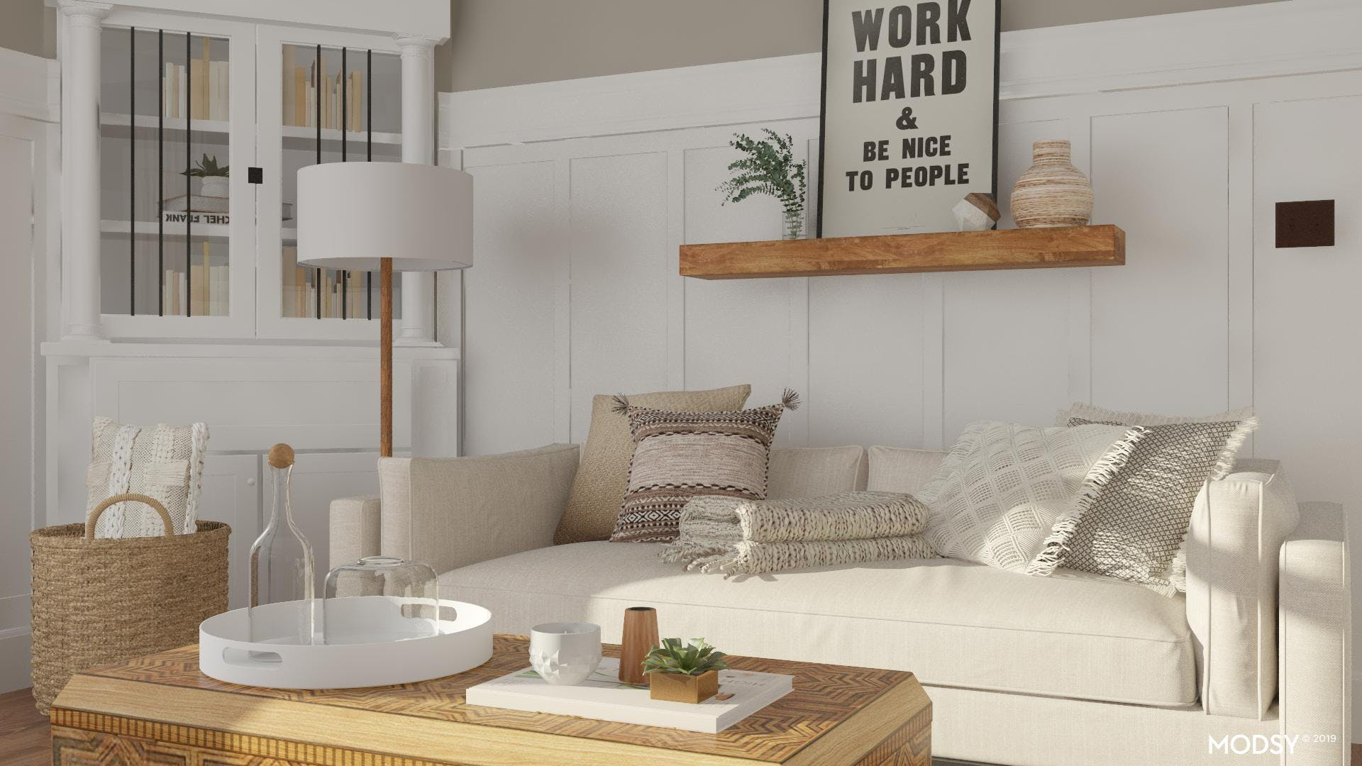 Layering Neutrals: A Modern Rustic Living Room