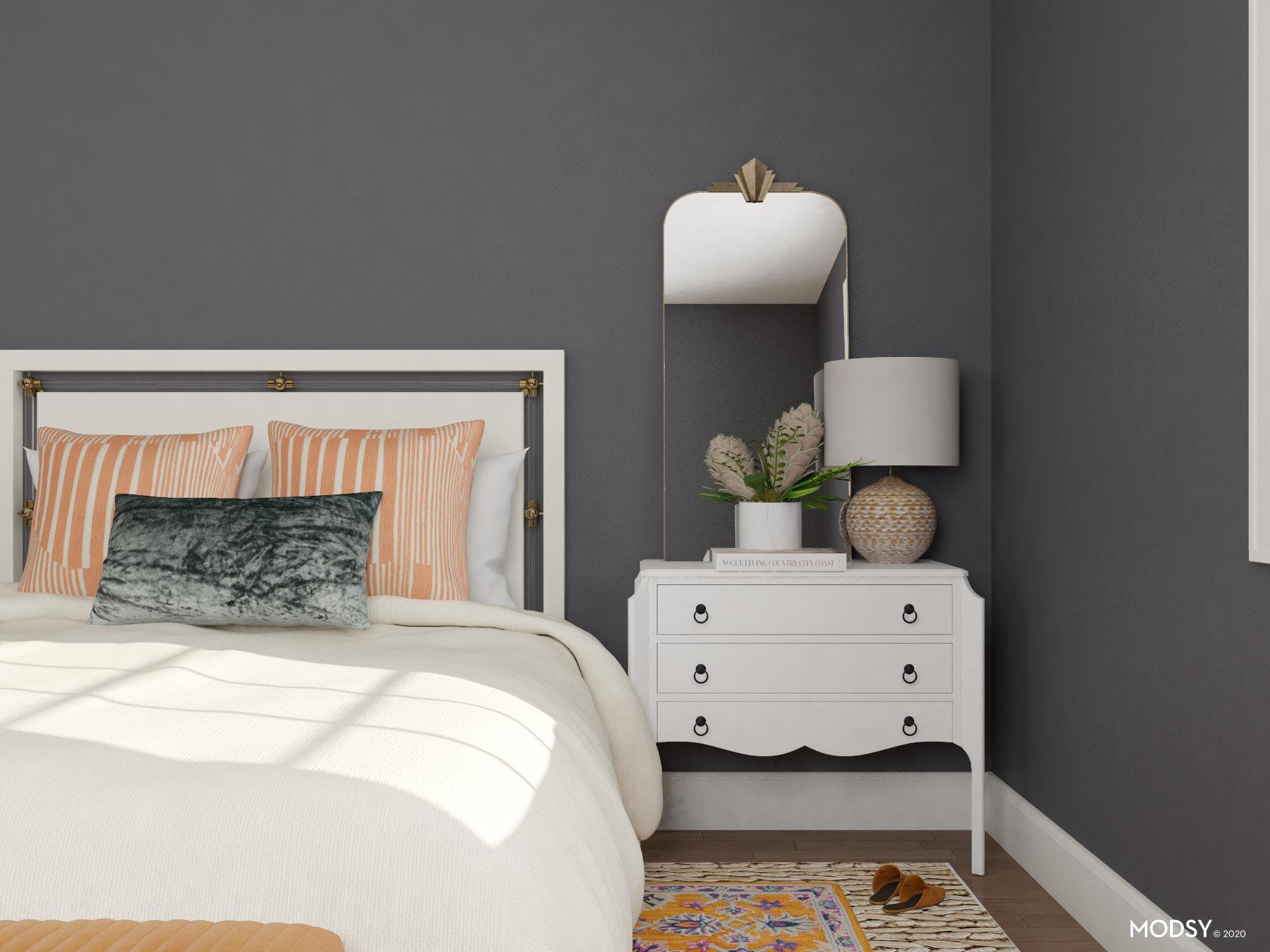 Eclectic Bedroom in Glorious Gray