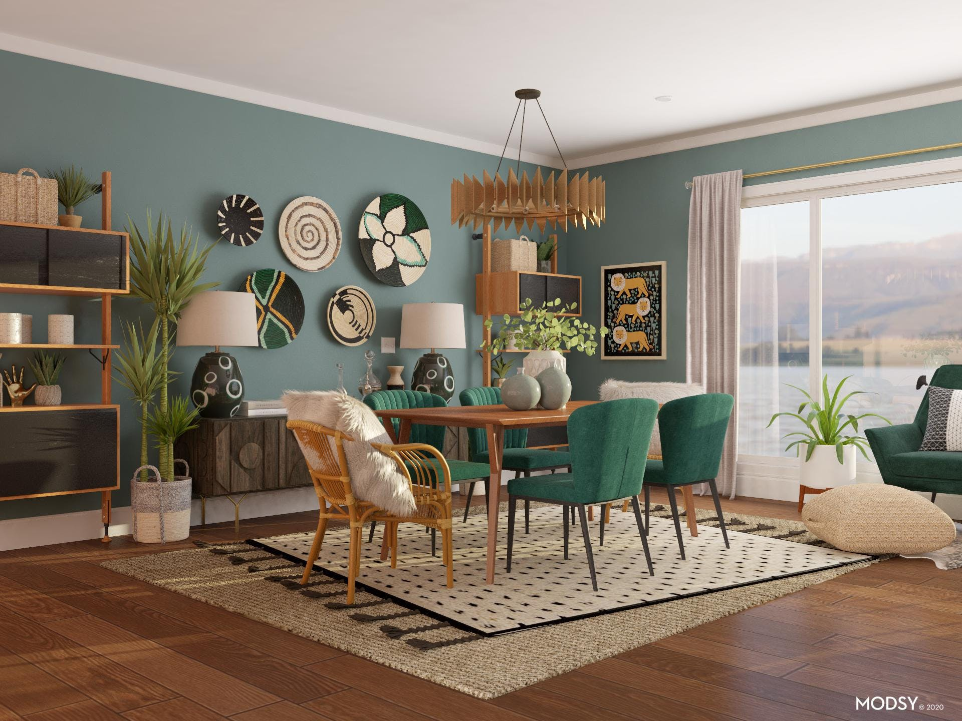 Emerald Green: Eclectic Oasis