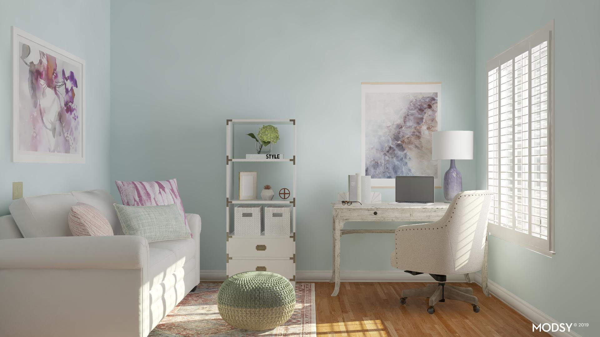 Soothing Rustic Office