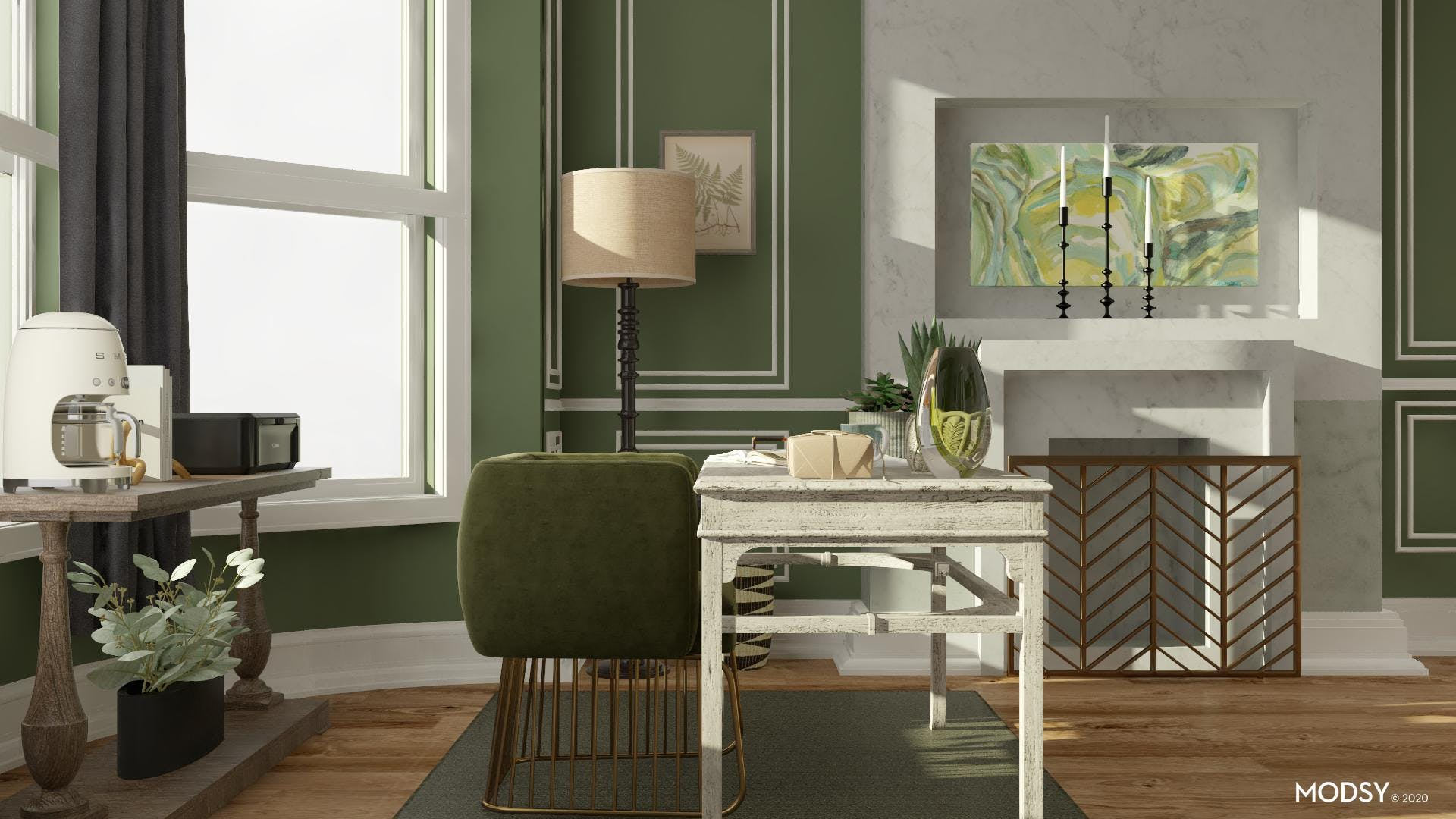 Glam Elements: Eclectic Office