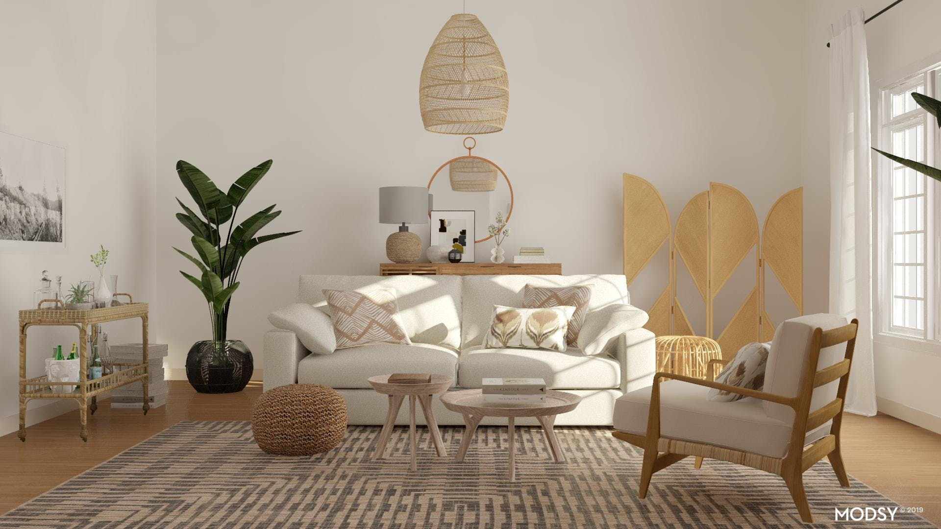 A Living Room Full Of Natural Texture