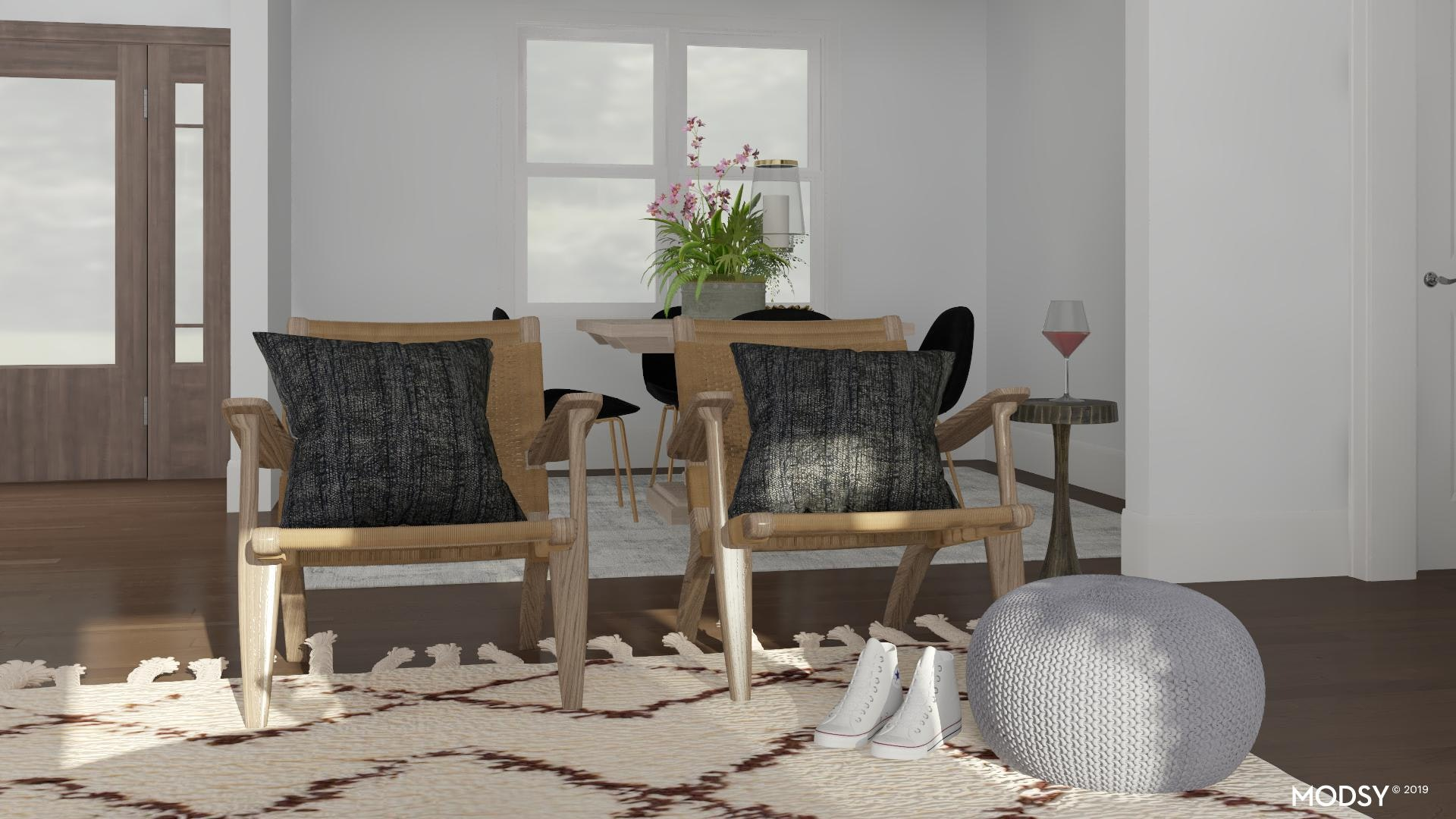 Mid Century Modern Accent Chairs Modern Style Living Room