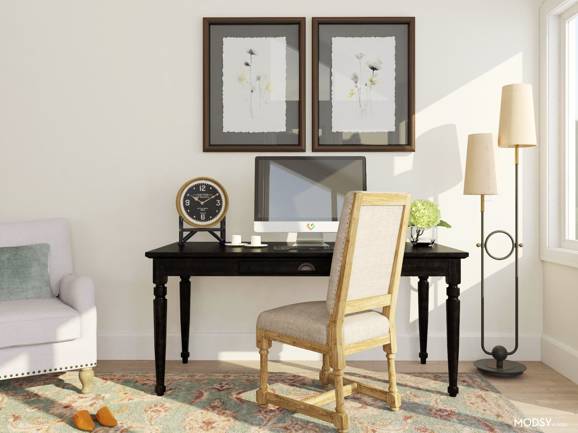 Sophisticated Home Office in a Traditional Style