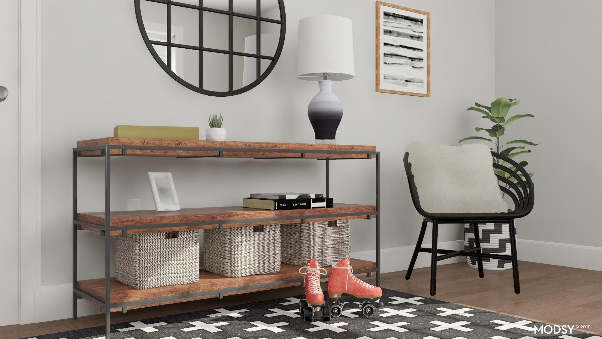 Functional and Sophisticated Entryway