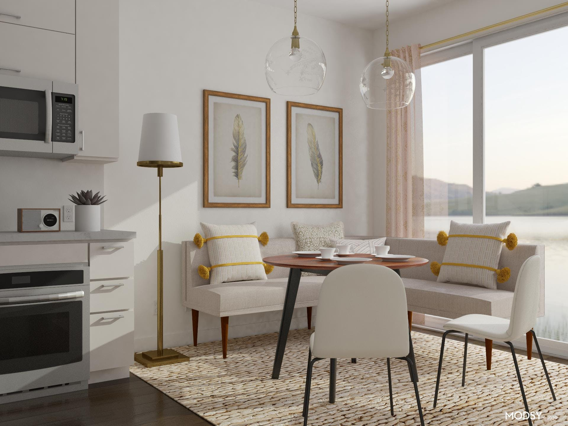 Neutral Open Dining Room