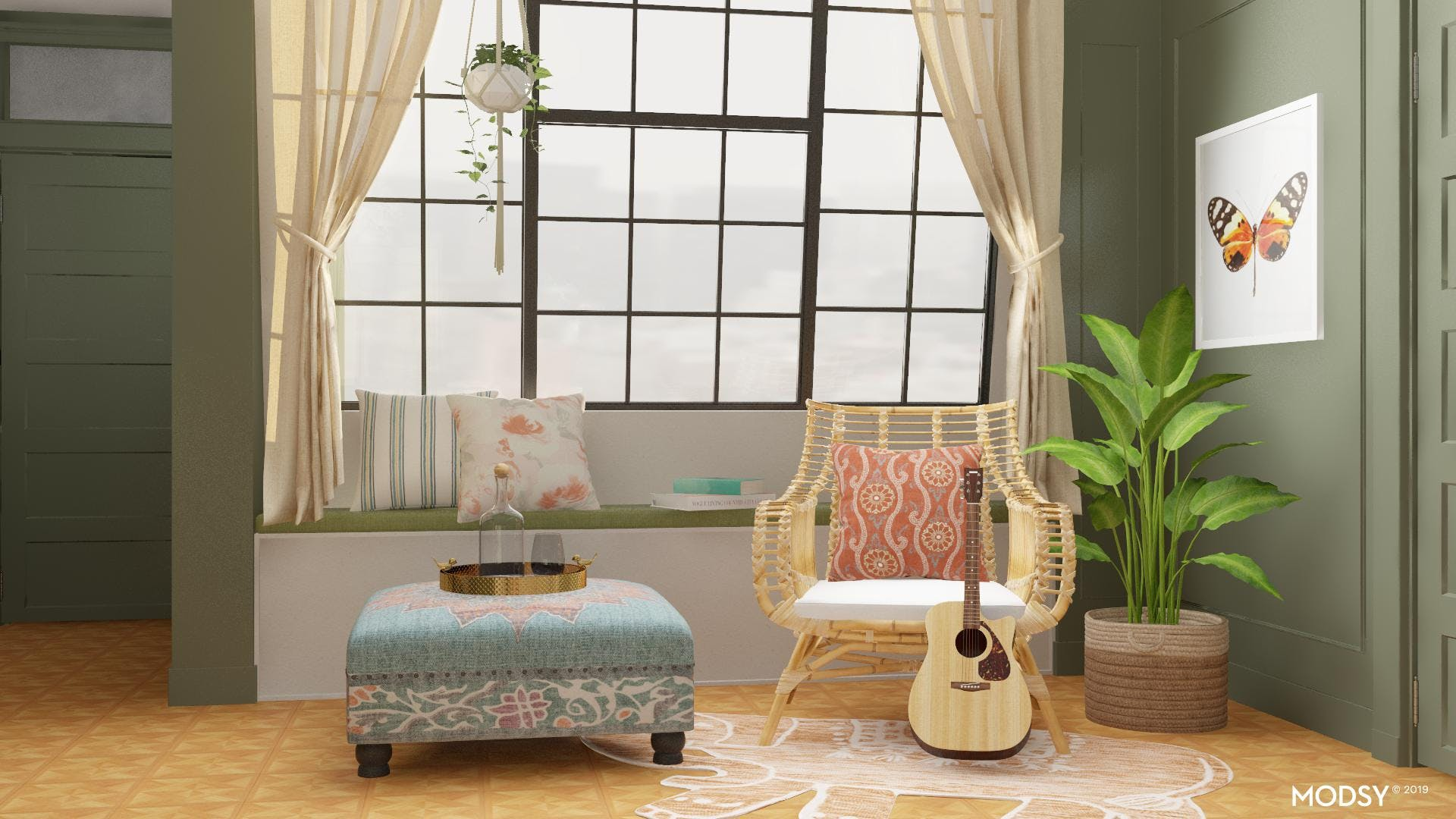 Eclectic Seating Nook