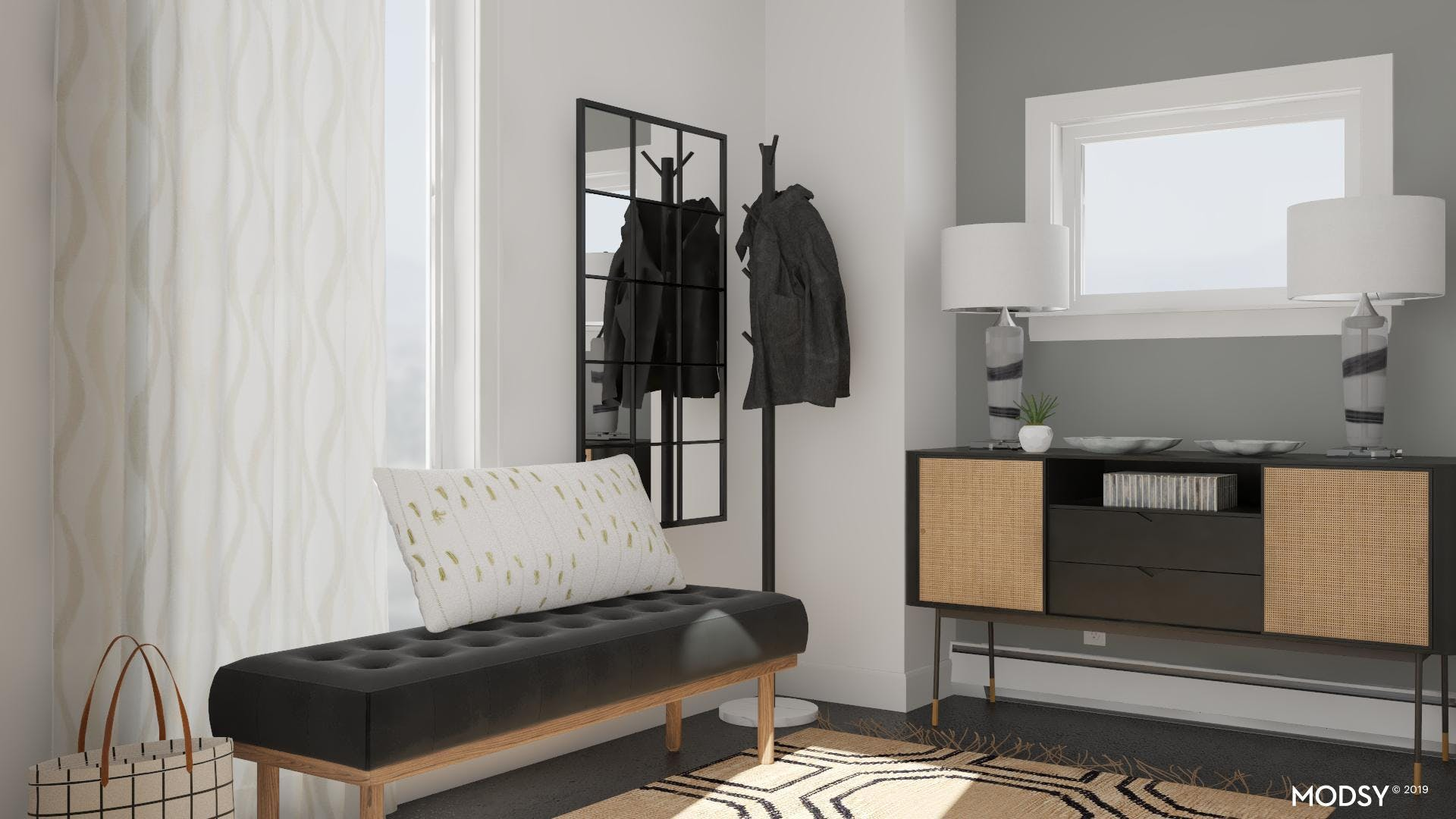 Shape And Texture In A Black And White Modern Design