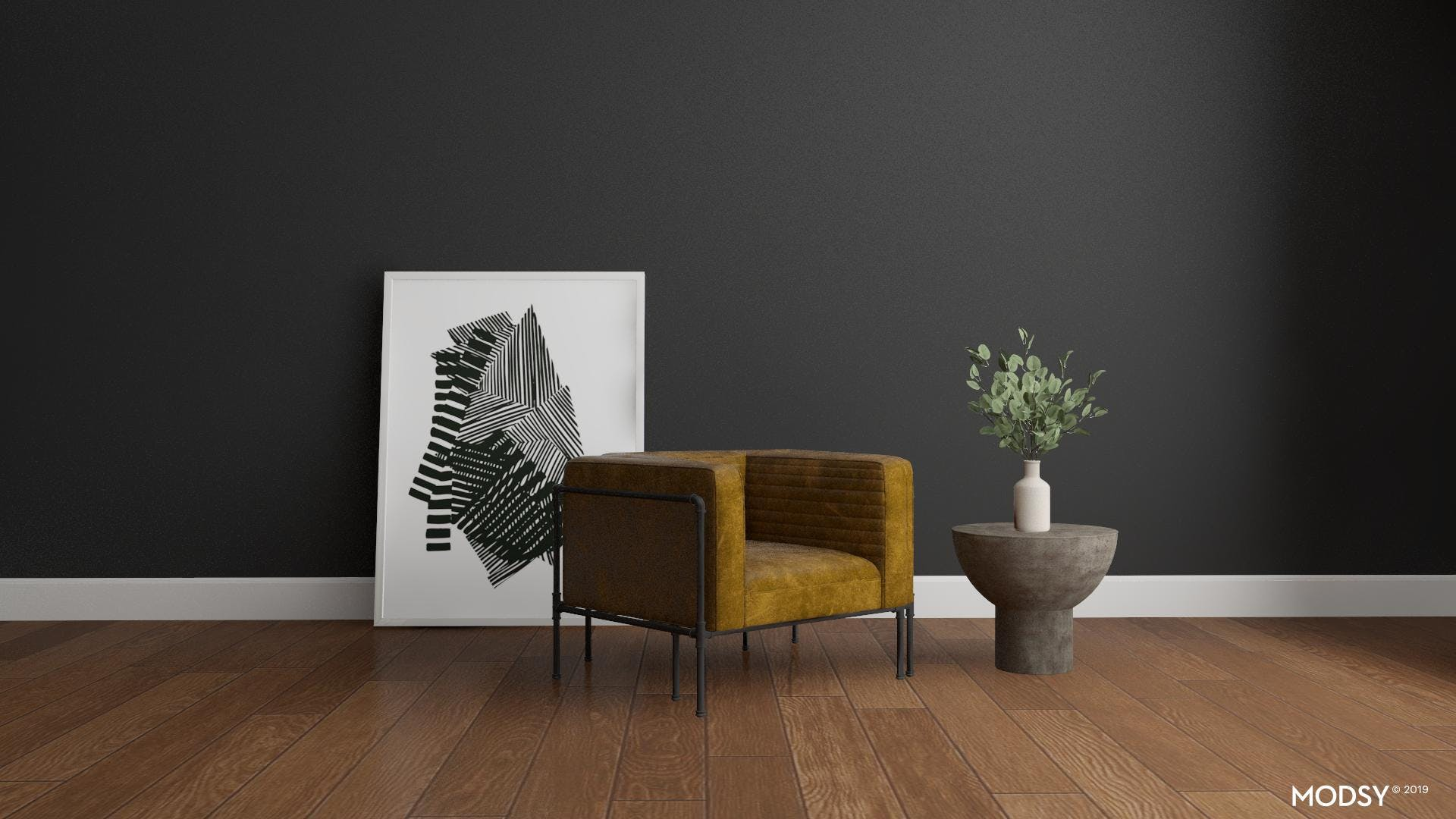 Industrial Brown Leather Chair