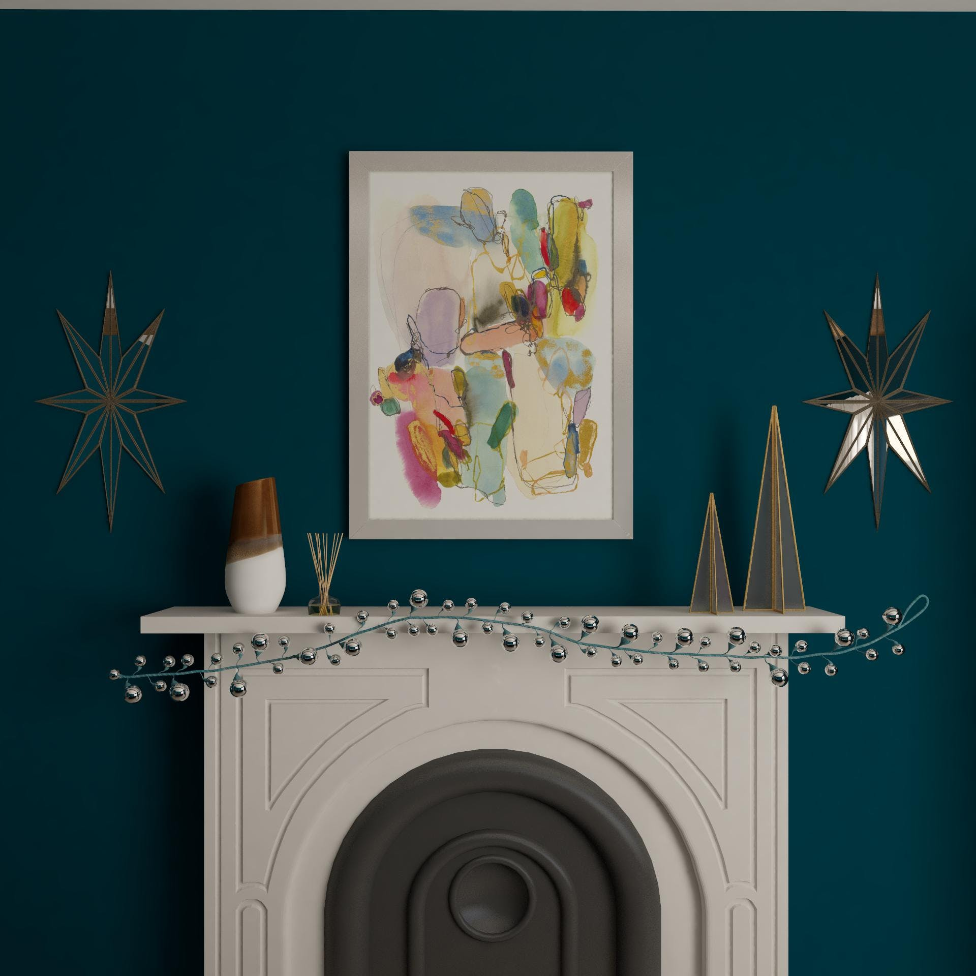 A Moody and Glam Mantel