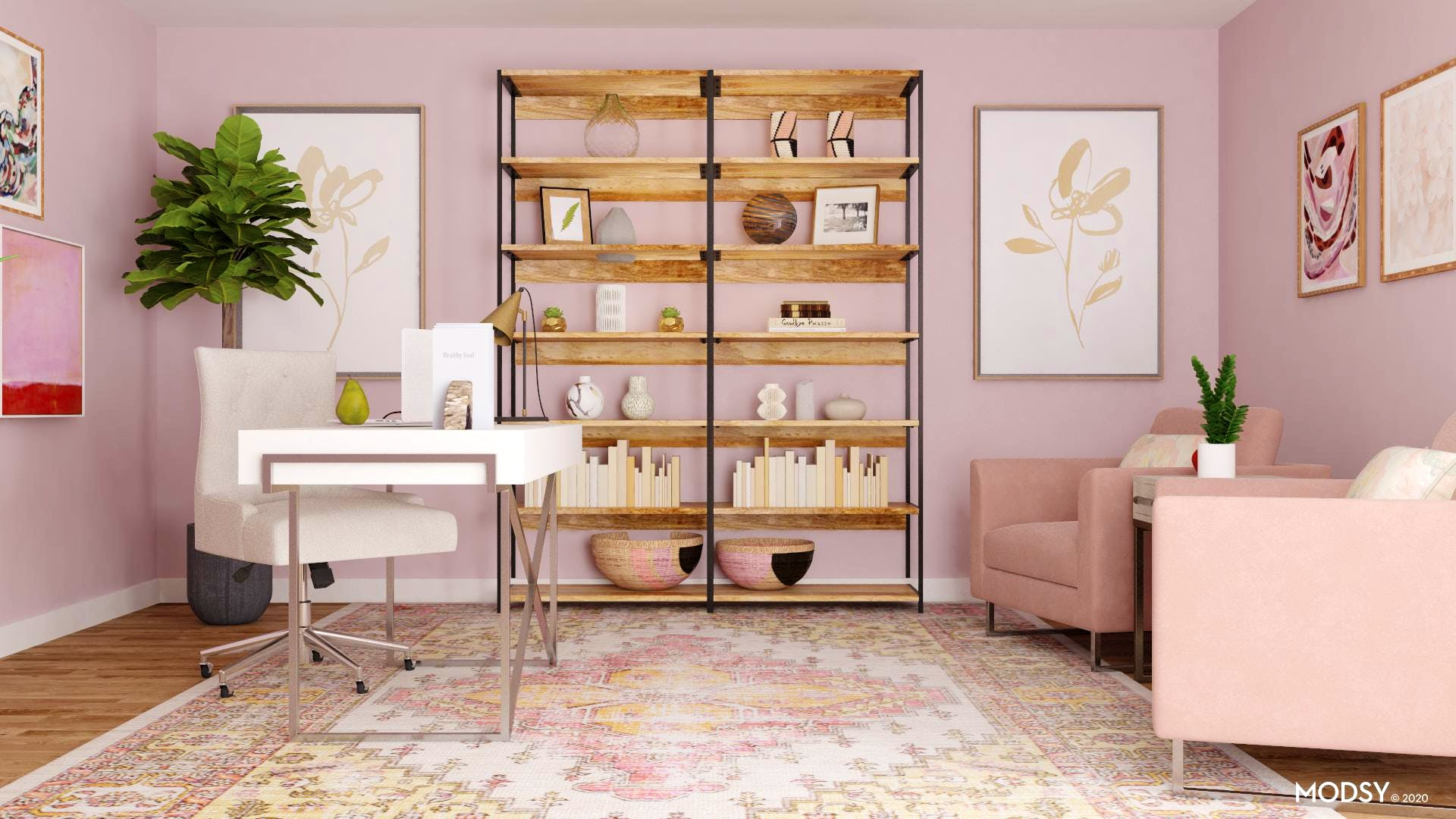 Pretty In Pink Transitional Office