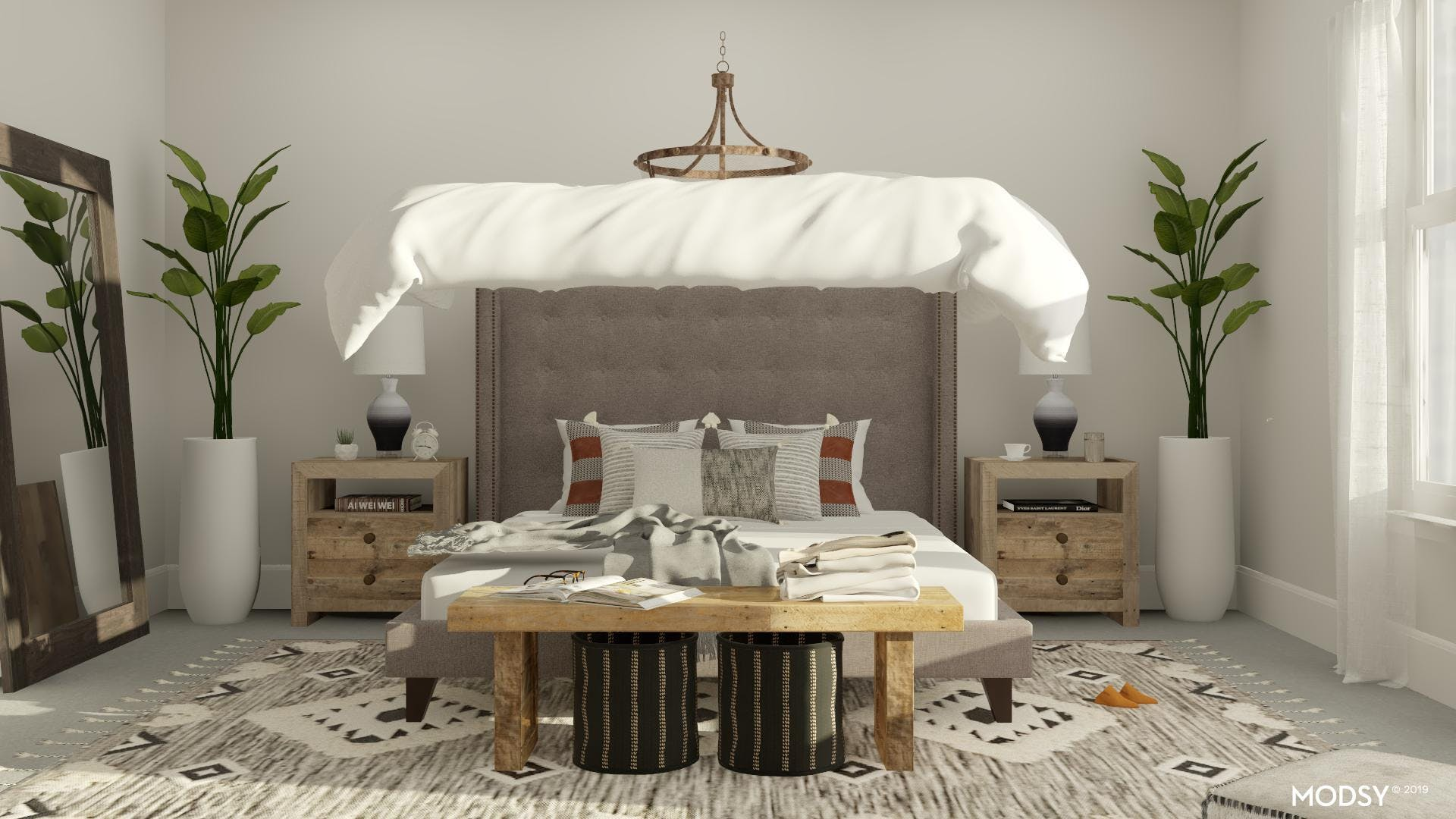 Rustic Black and White Oasis