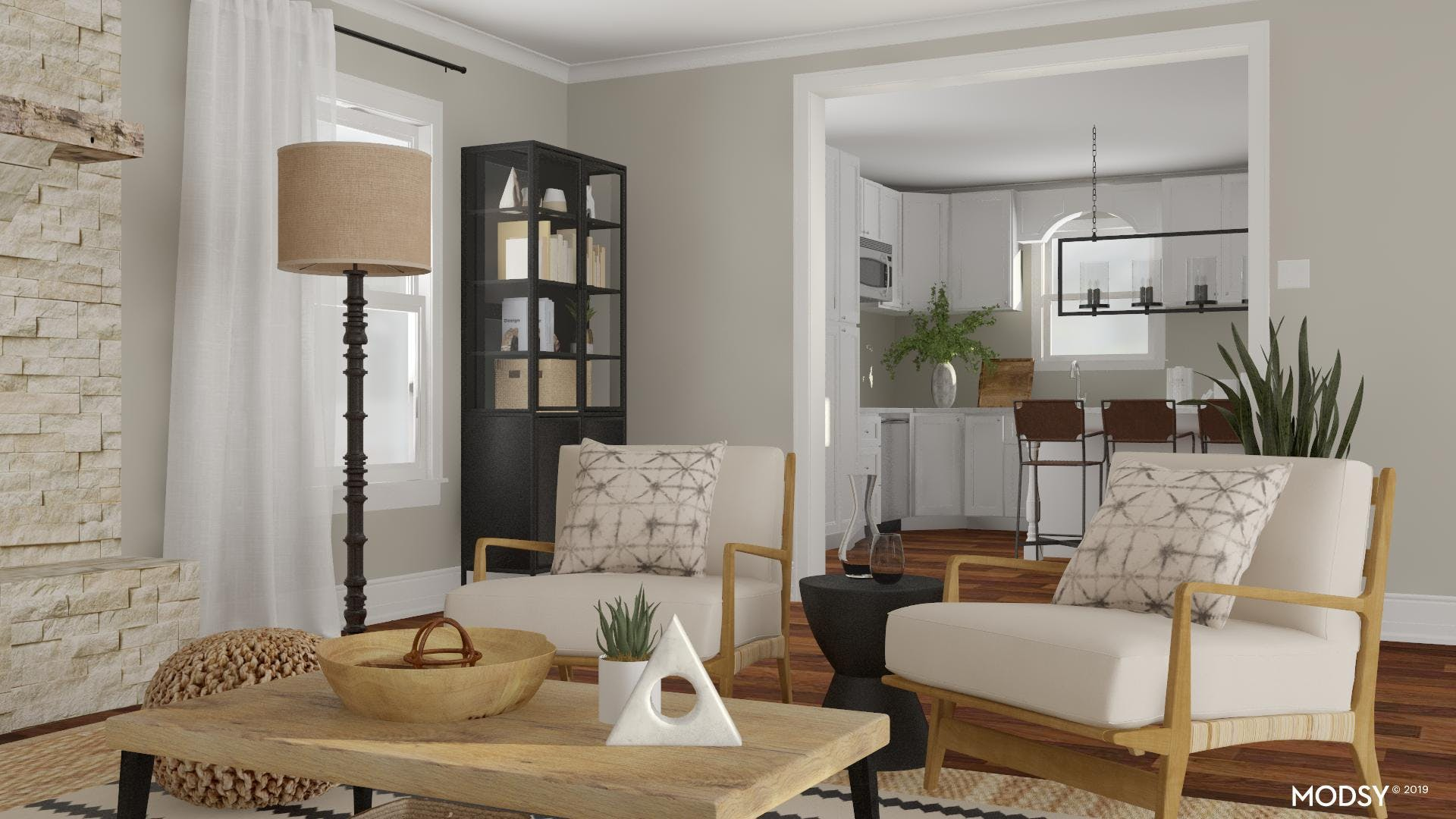 Rustic Accent Seating Area