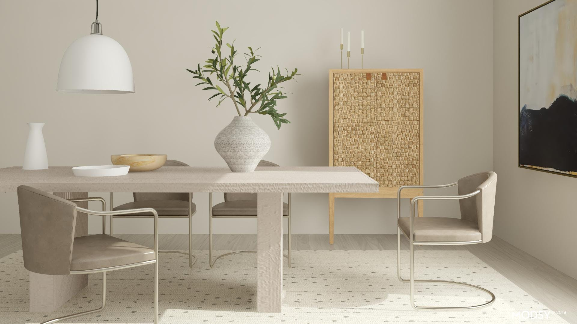 Organic Modern Dining  in Neutral Tones