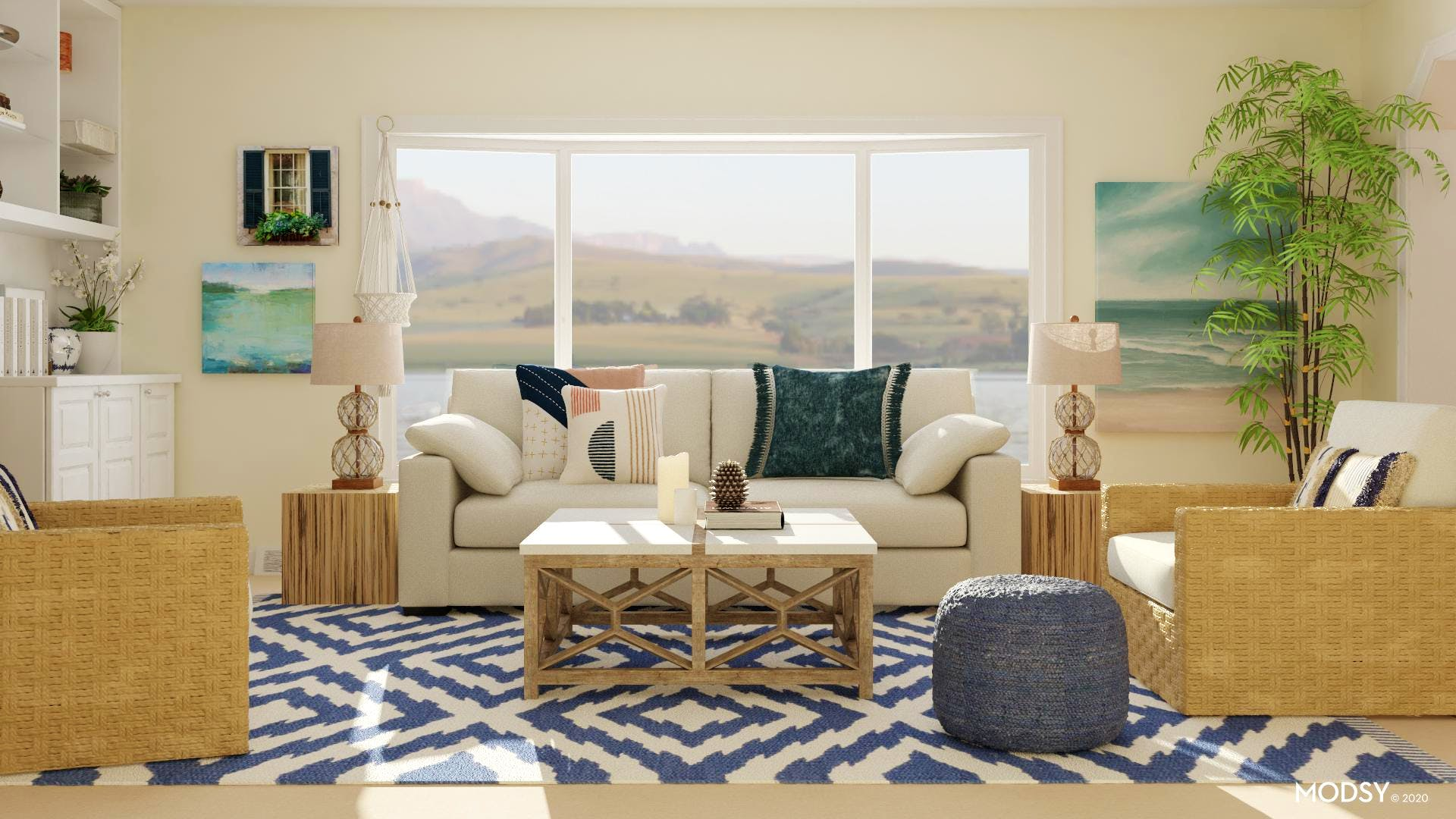 White Sands: Coastal Living Room