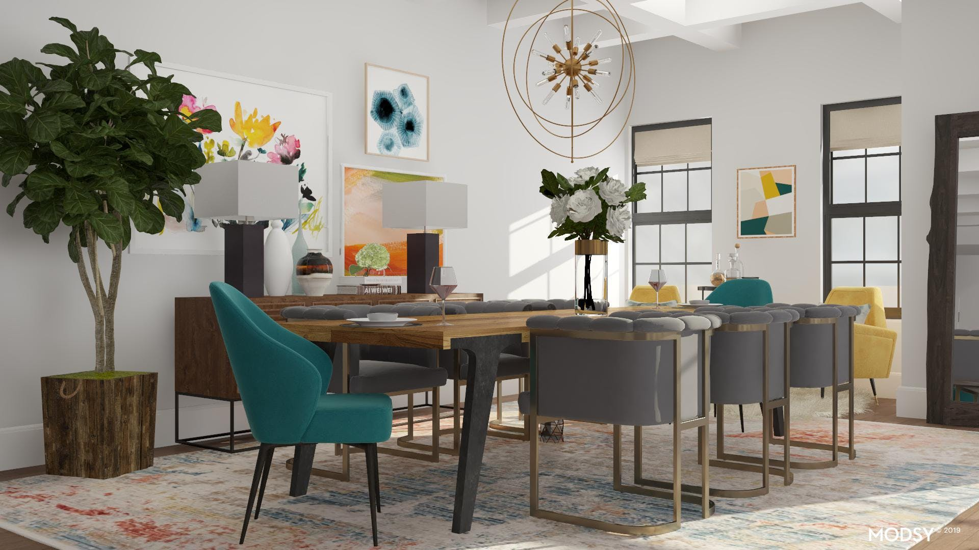 The Bold and the Beautiful: Modern Dining Room