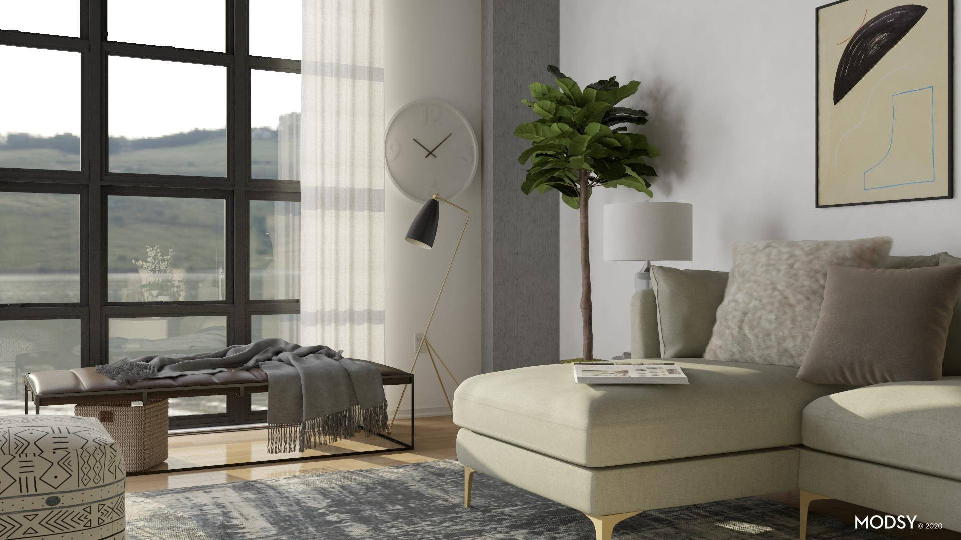 Luxe Living Room In Neutral