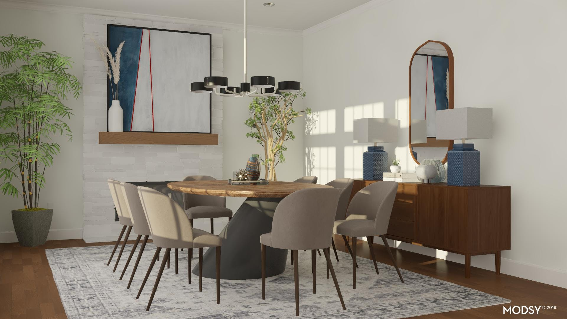 Enhance Your Dining Room With Pops Of Blues