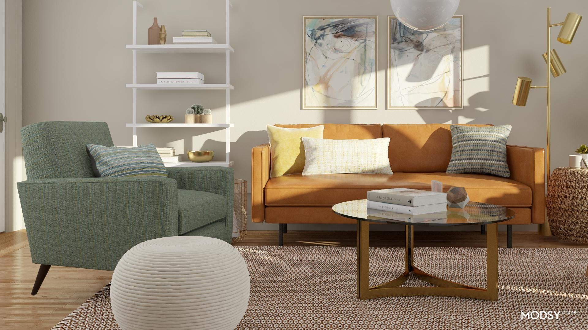 Warming Up A Modern Living Room With Textures