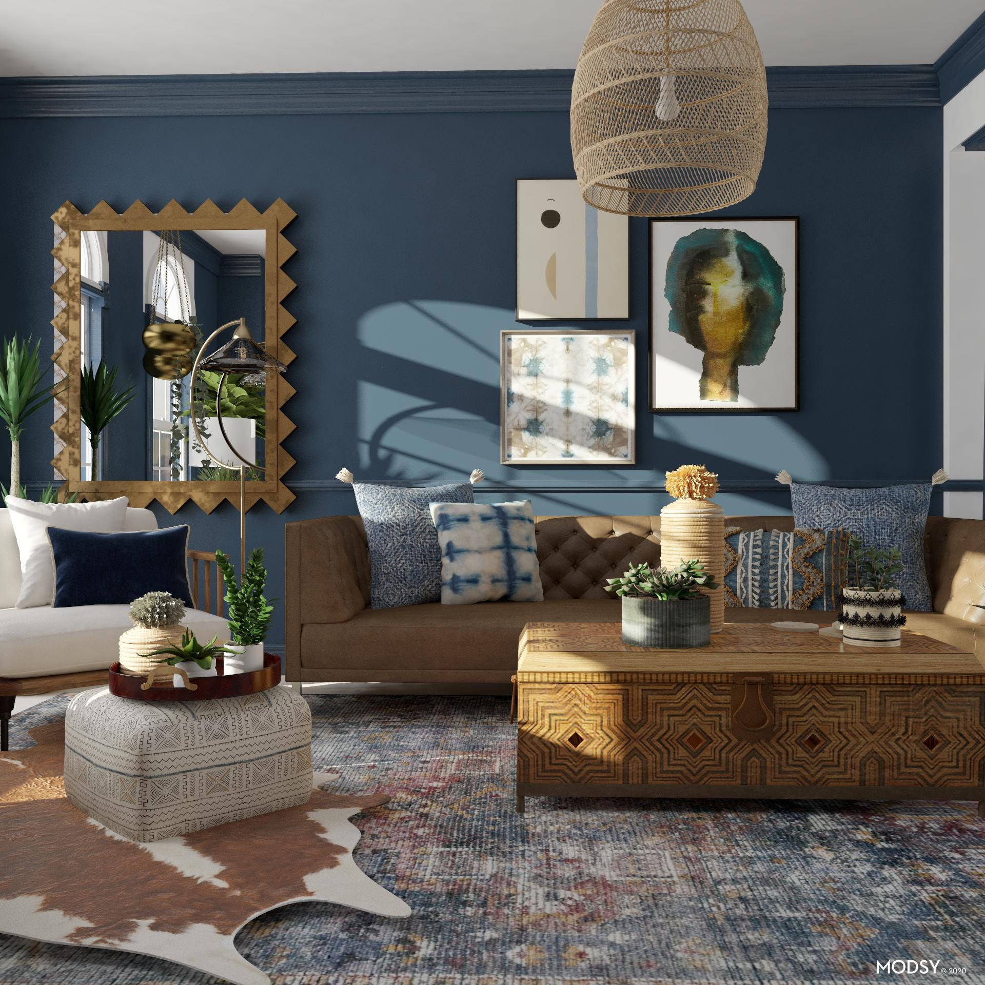 In The Details: Eclectic Living Room Design