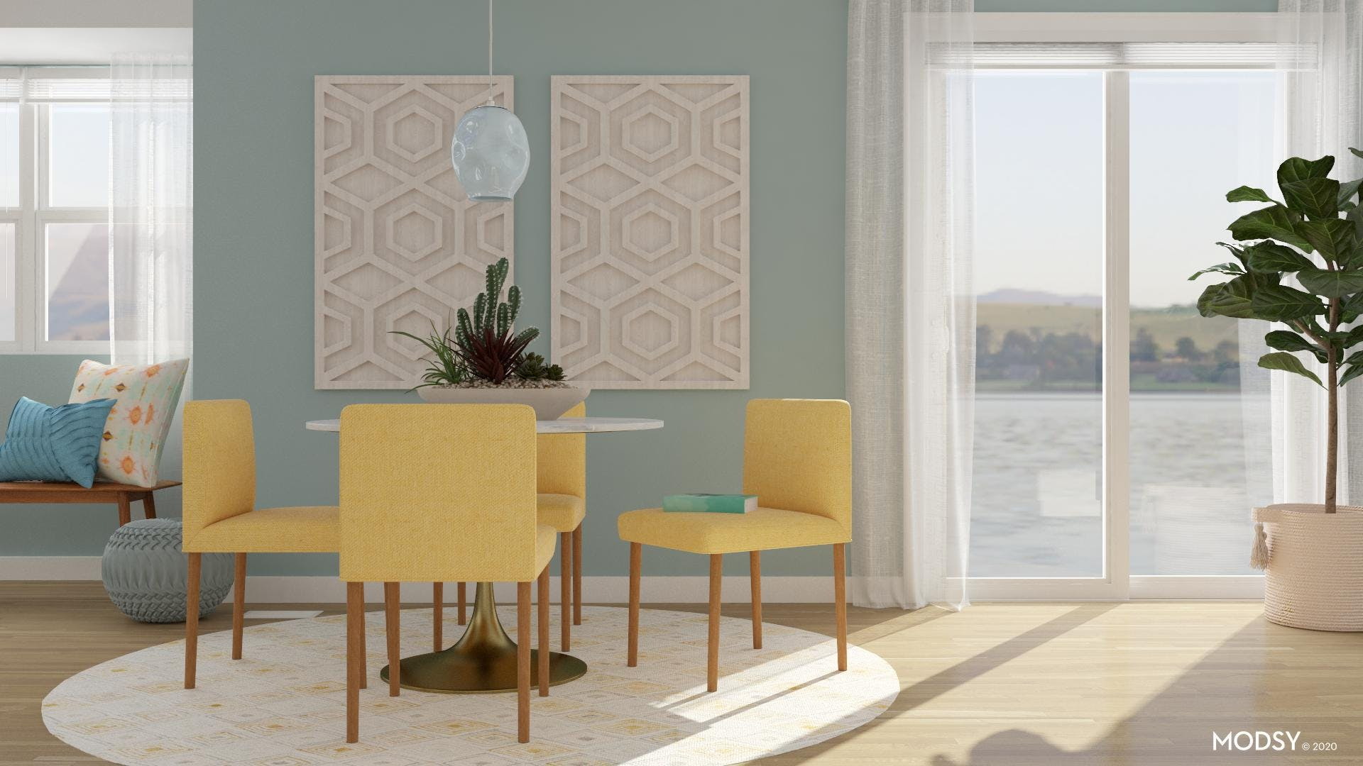 A Fresh Pastel Dining Room