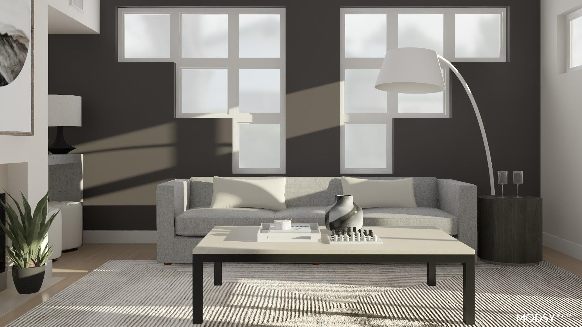 Modern Living Room With A Grand Presence