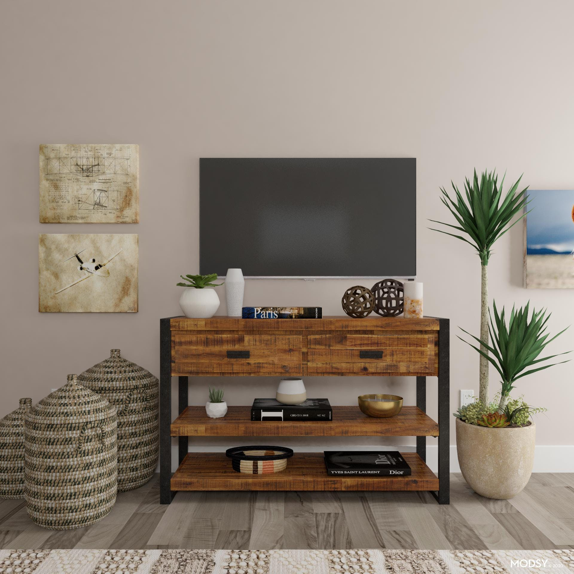 Distressed Details: Media Console