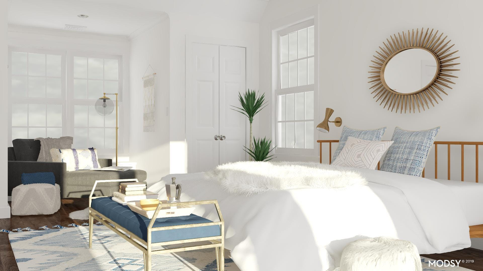 Atomic Flair In A Cozy Chic Bedroom
