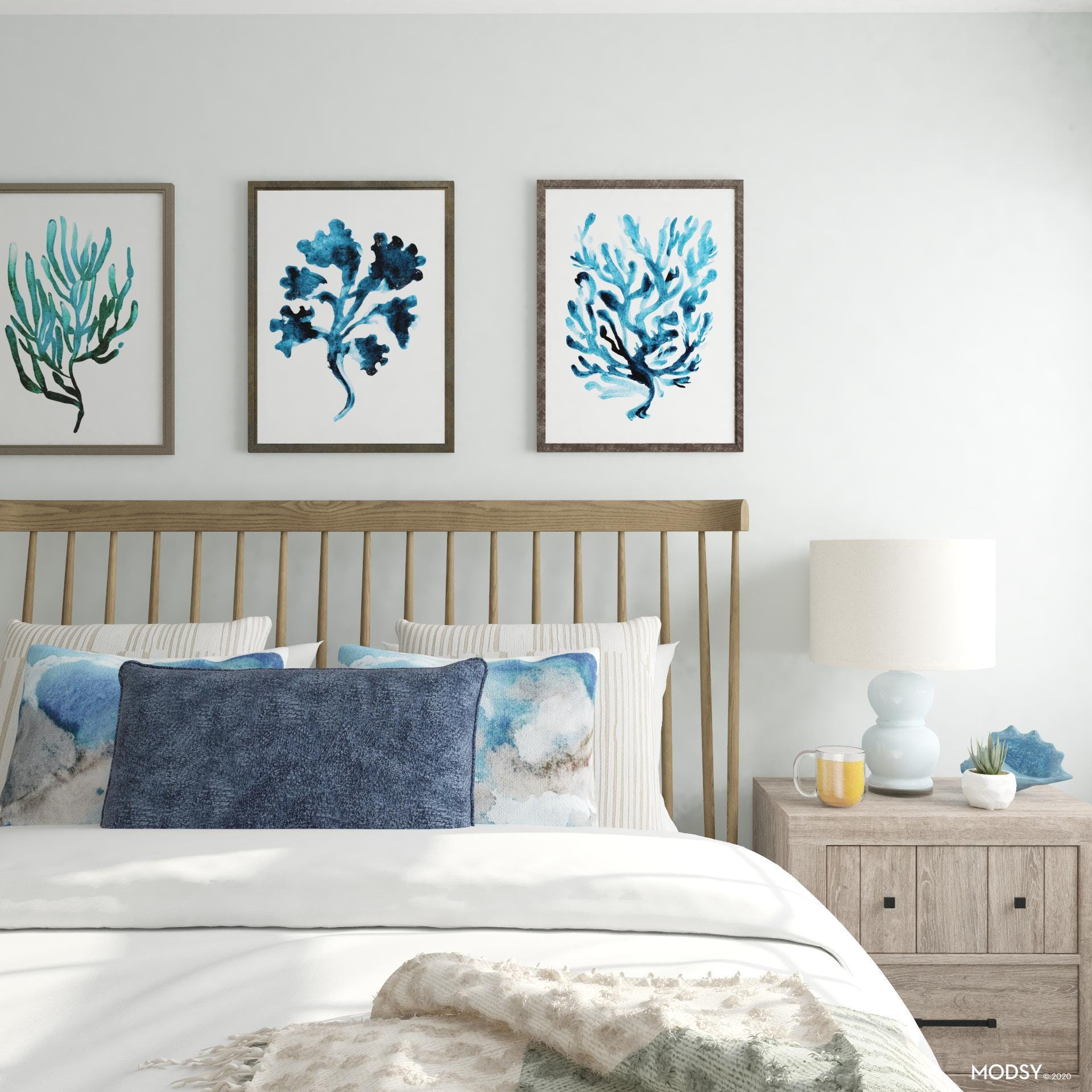 Blues And Browns: Bedroom