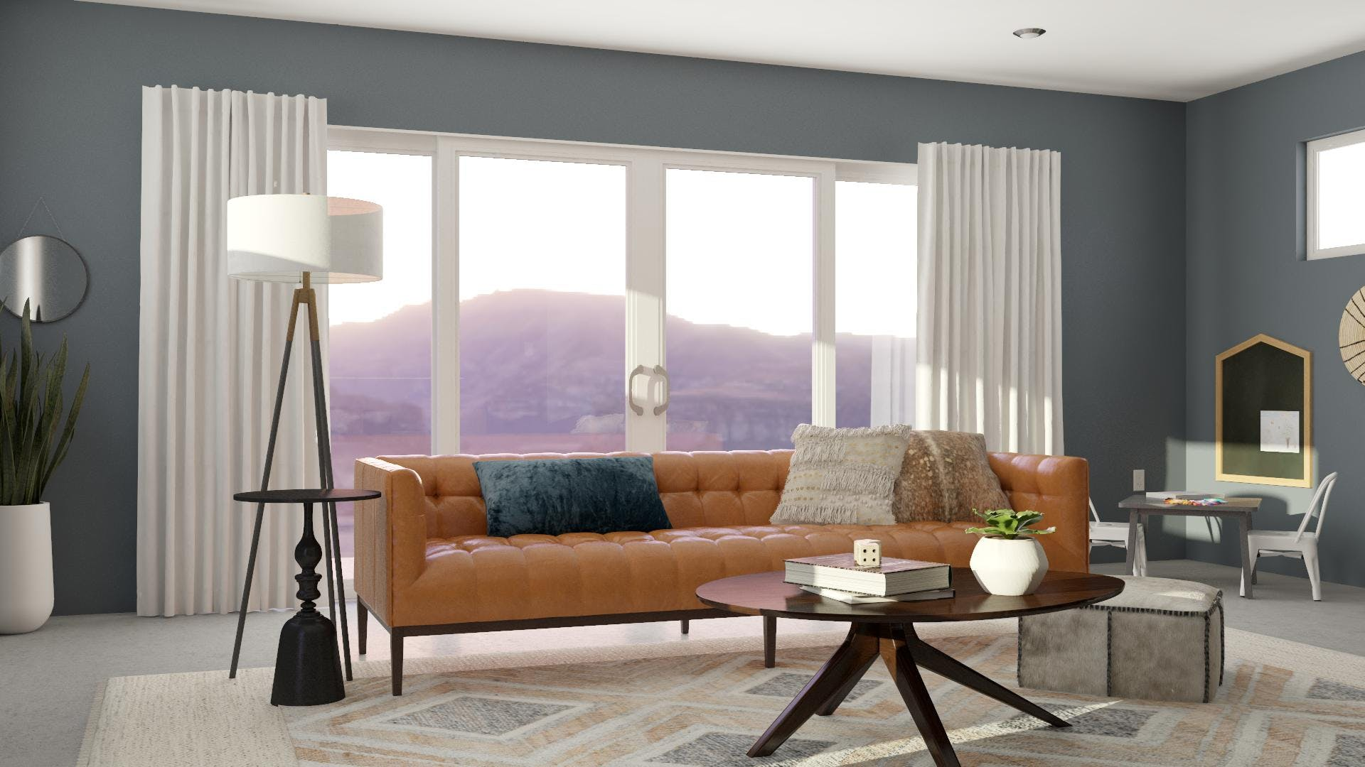 Sleek Contemporary Living Room With Space For Kids