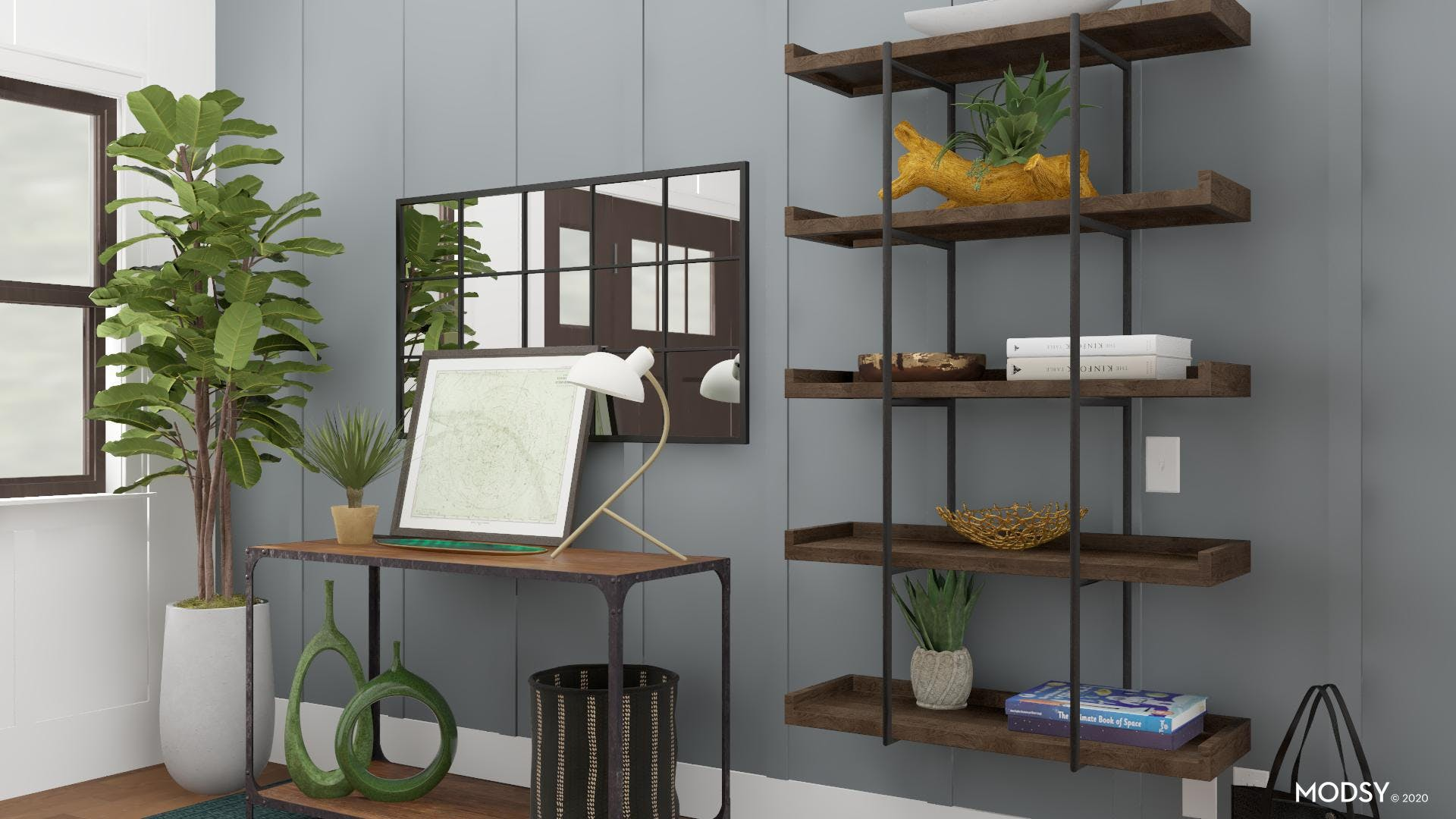 Mix And Match: Industrial Green Entryway
