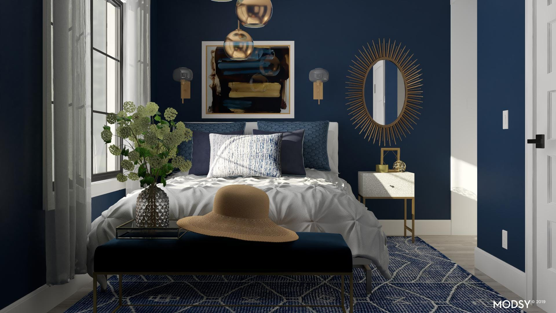 Glamourous Golds and Blues