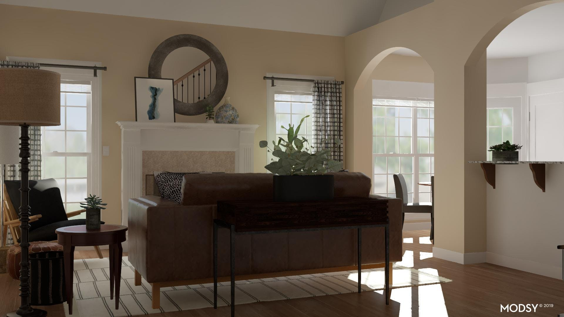 Industrial Living Room: Layout