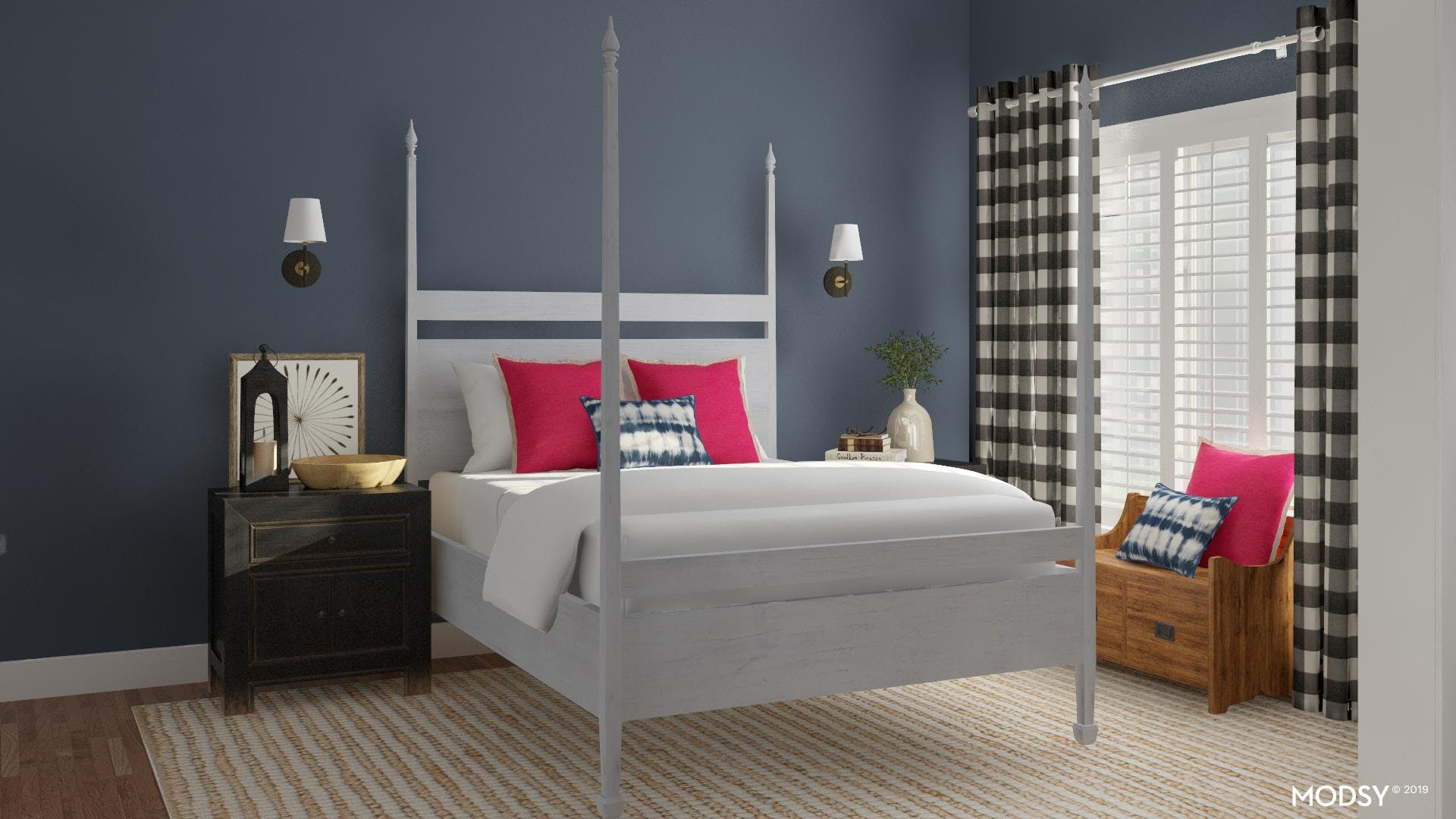 Colonial Inspired Bedroom Design