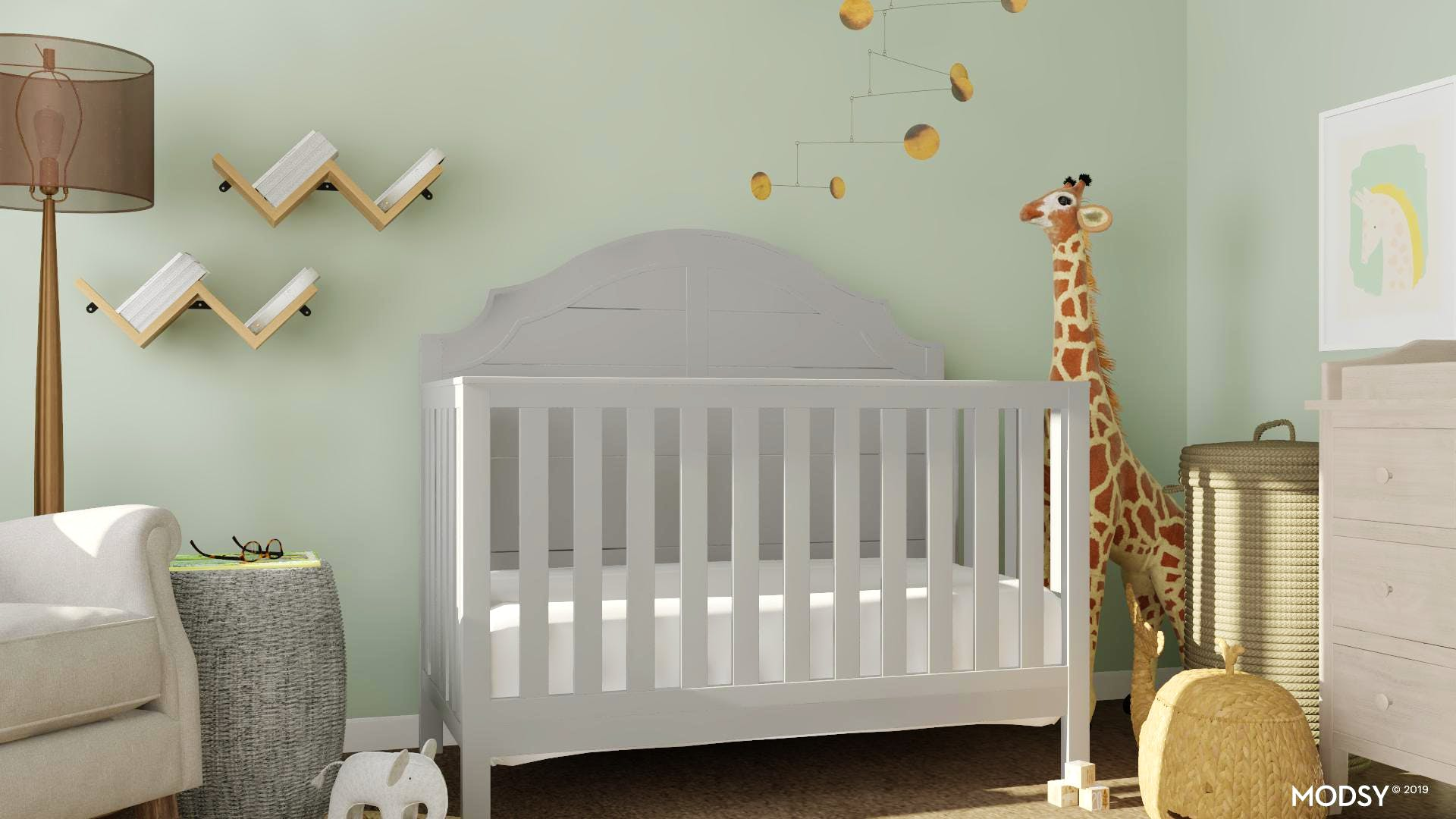 A Classic Style Nursery With Earth Tones Traditional