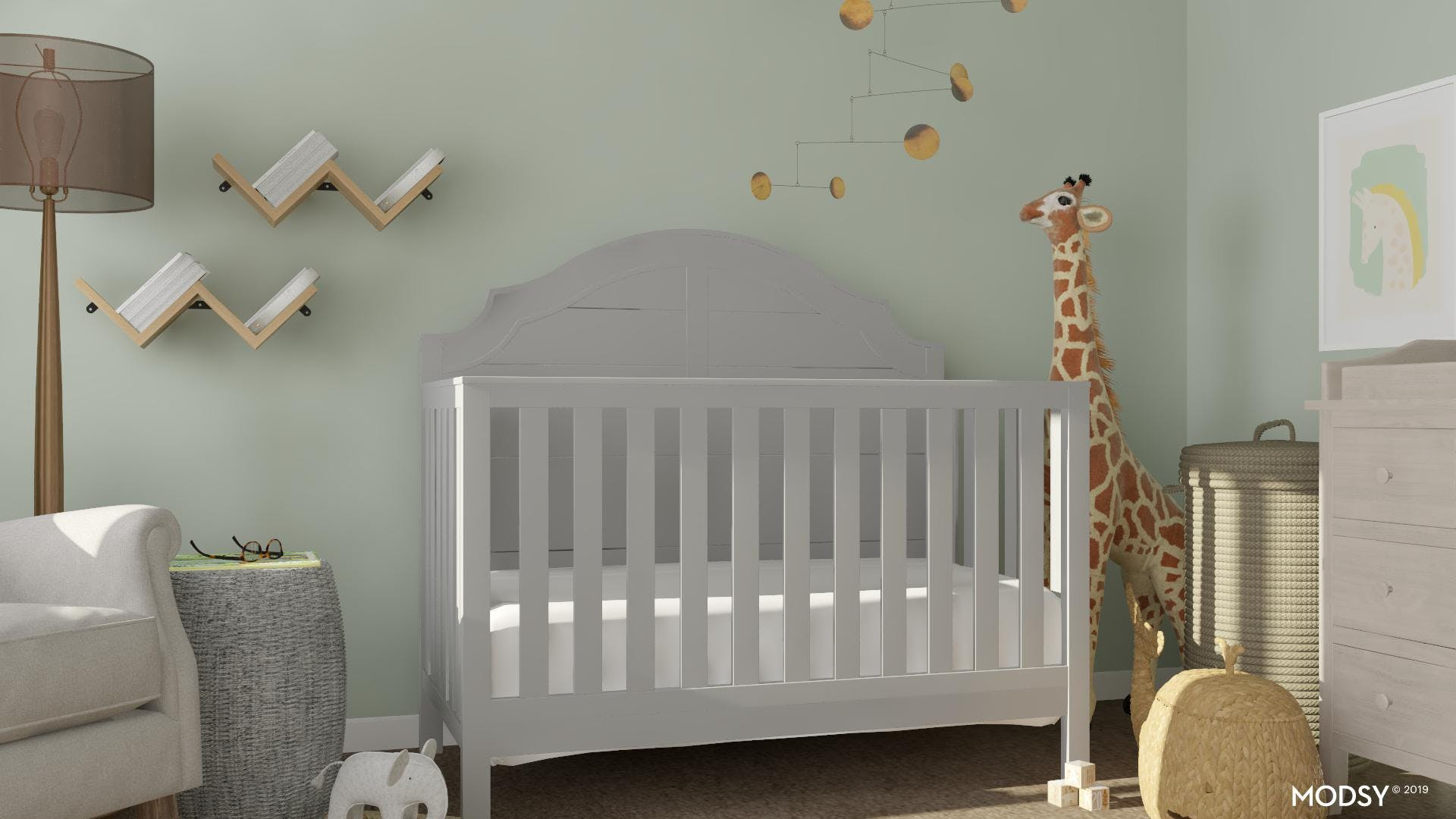 A Classic Style Nursery With Earth Tones