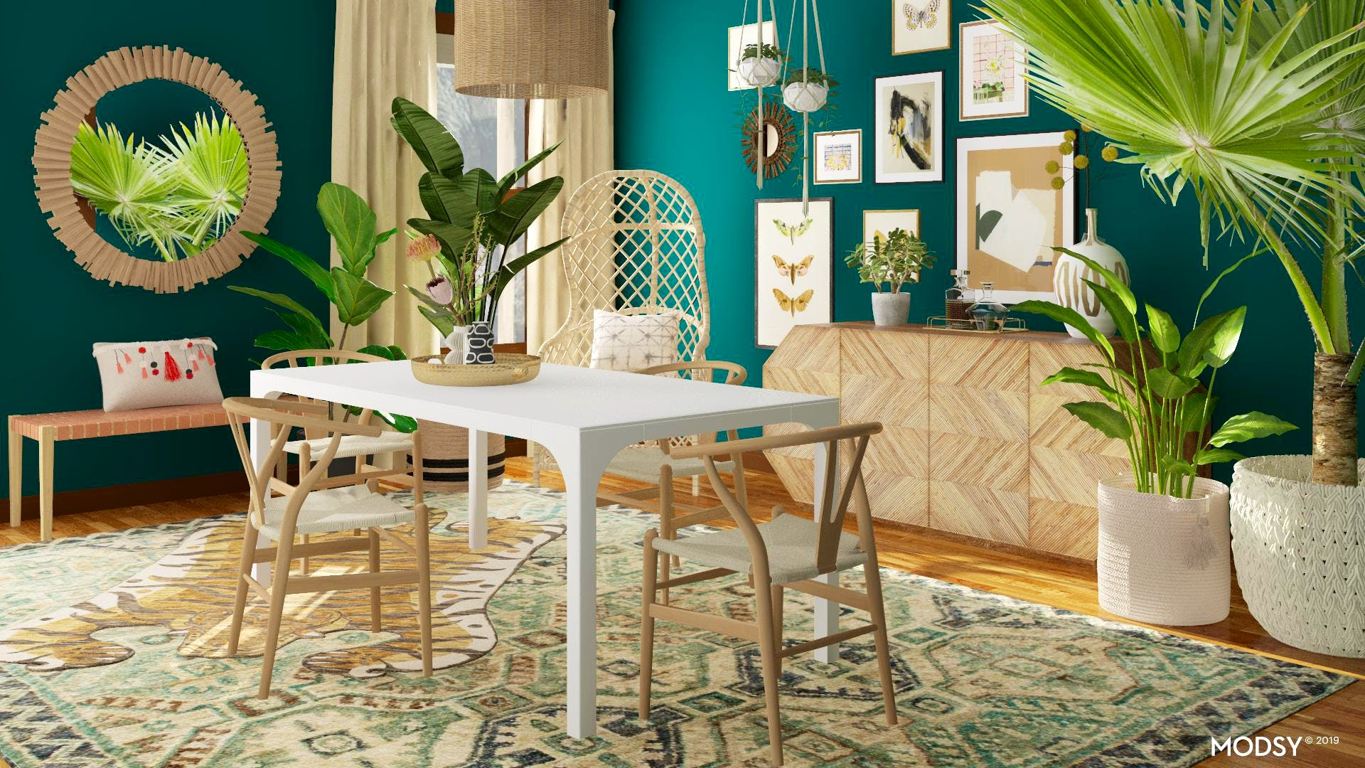A Jungalow-Inspired Dining Room