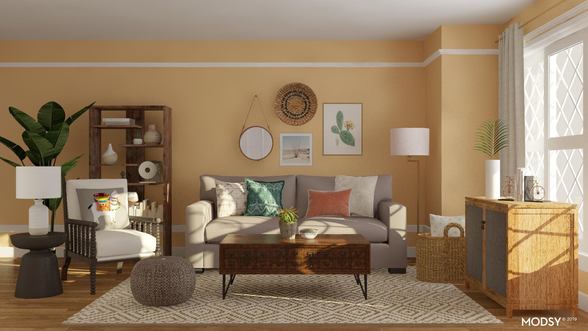 Sunny and Eclectic Living Room