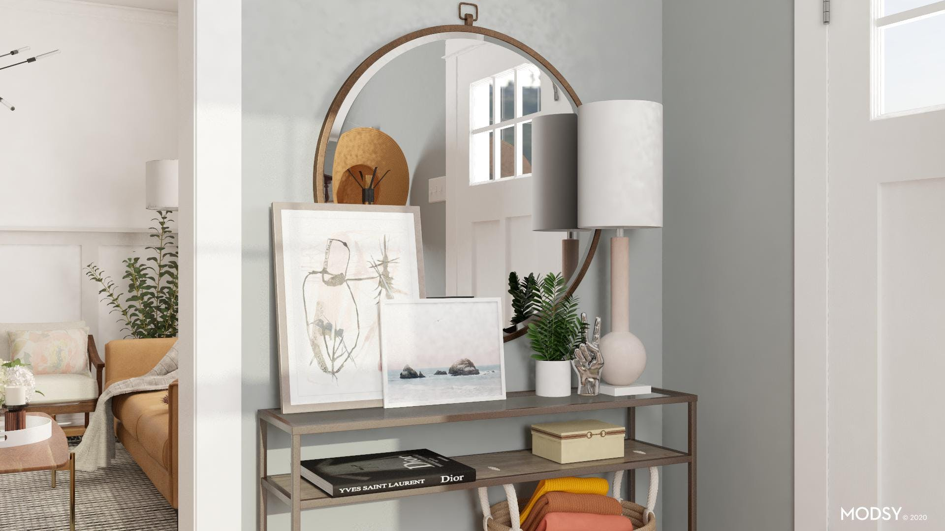 Surface Styling For An Entryway Console