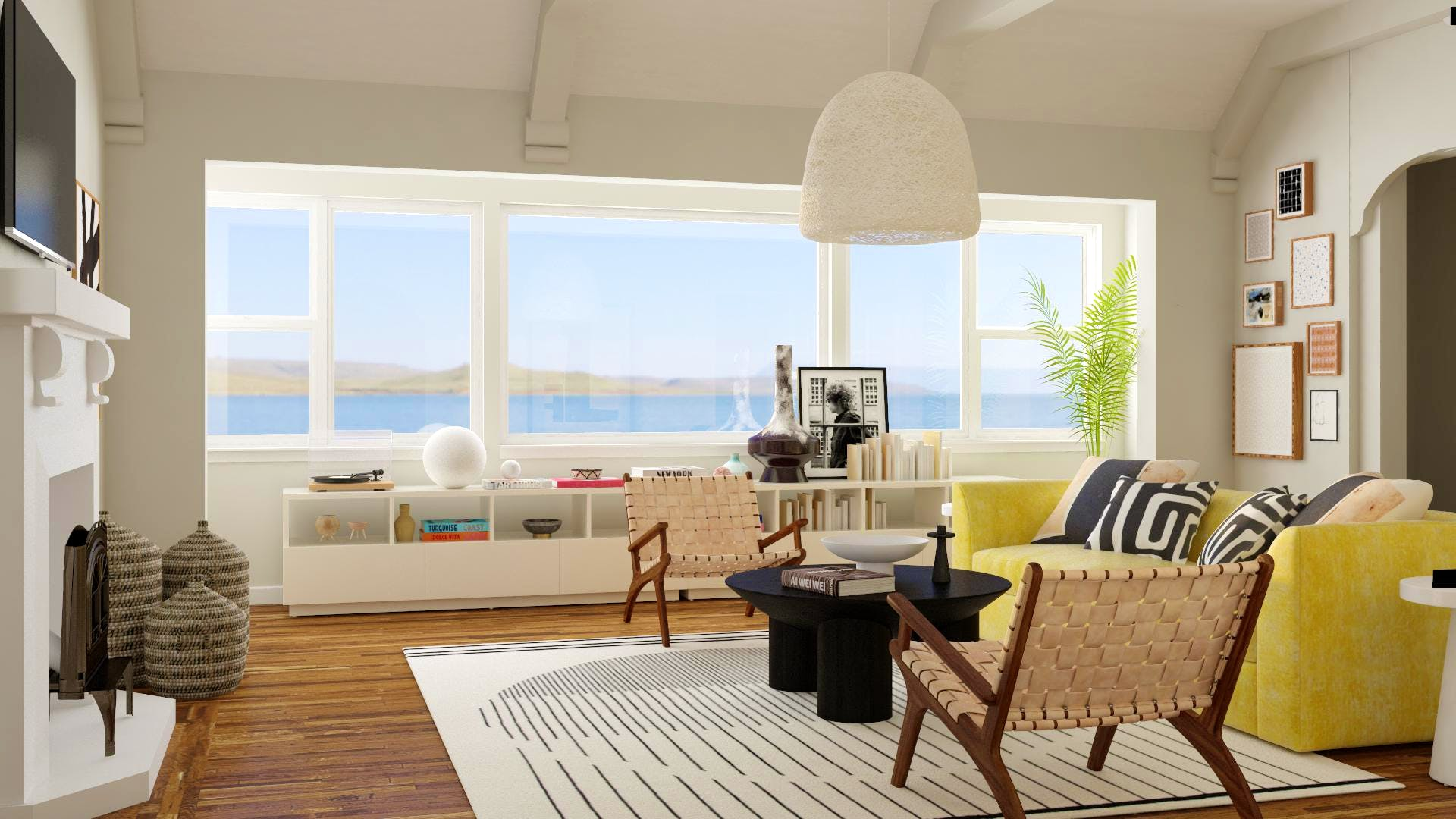 Beachy Oasis in Bold Contemporary Styling