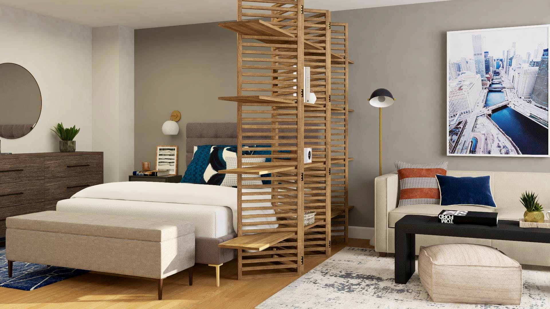 A Divided Space: Studio Apartment Solutions