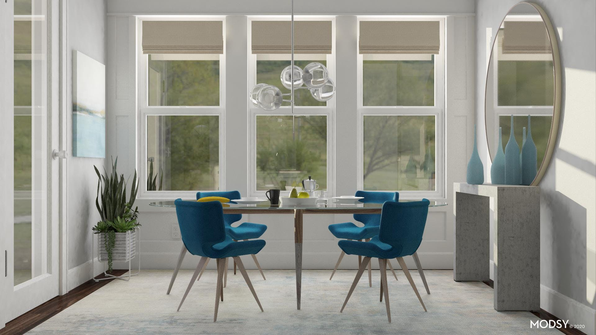 Classically Minimal Dining Room