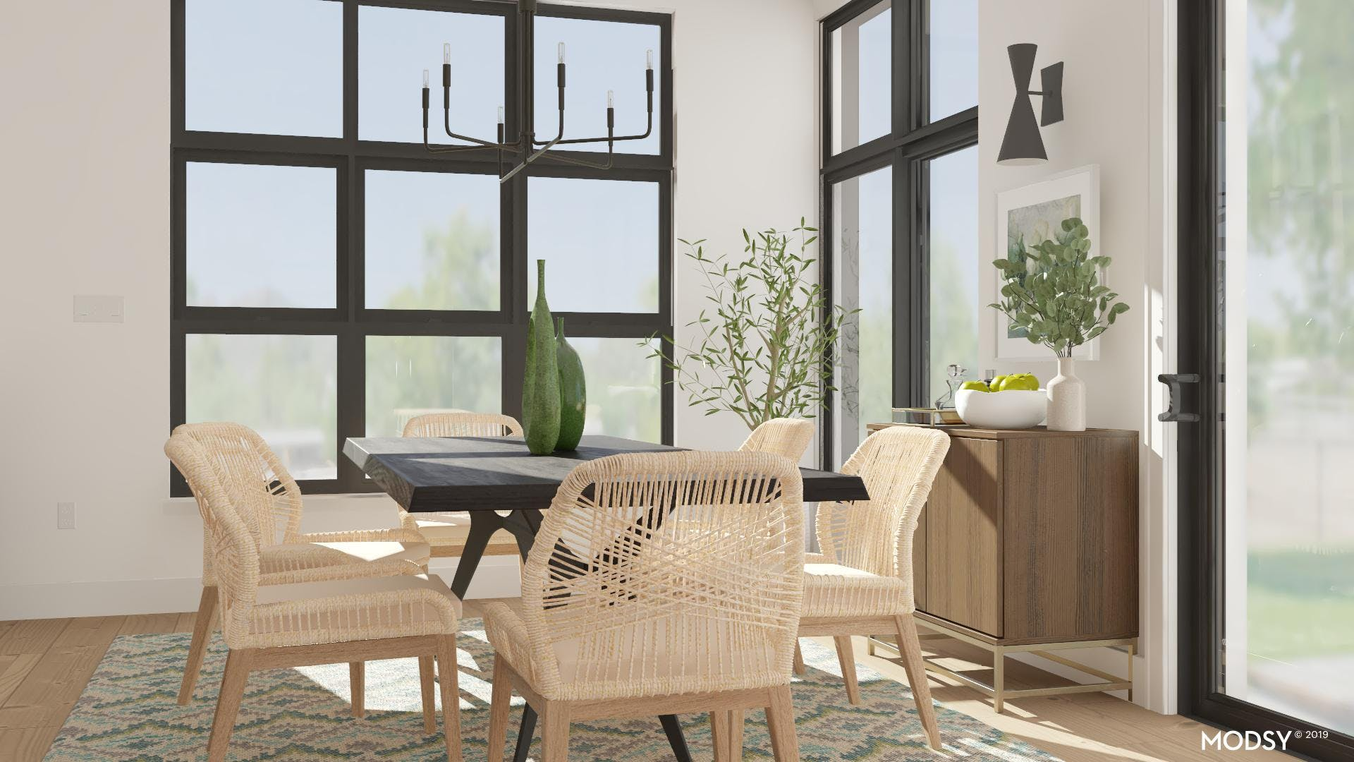 A Modern Dining Room Brings Warmth