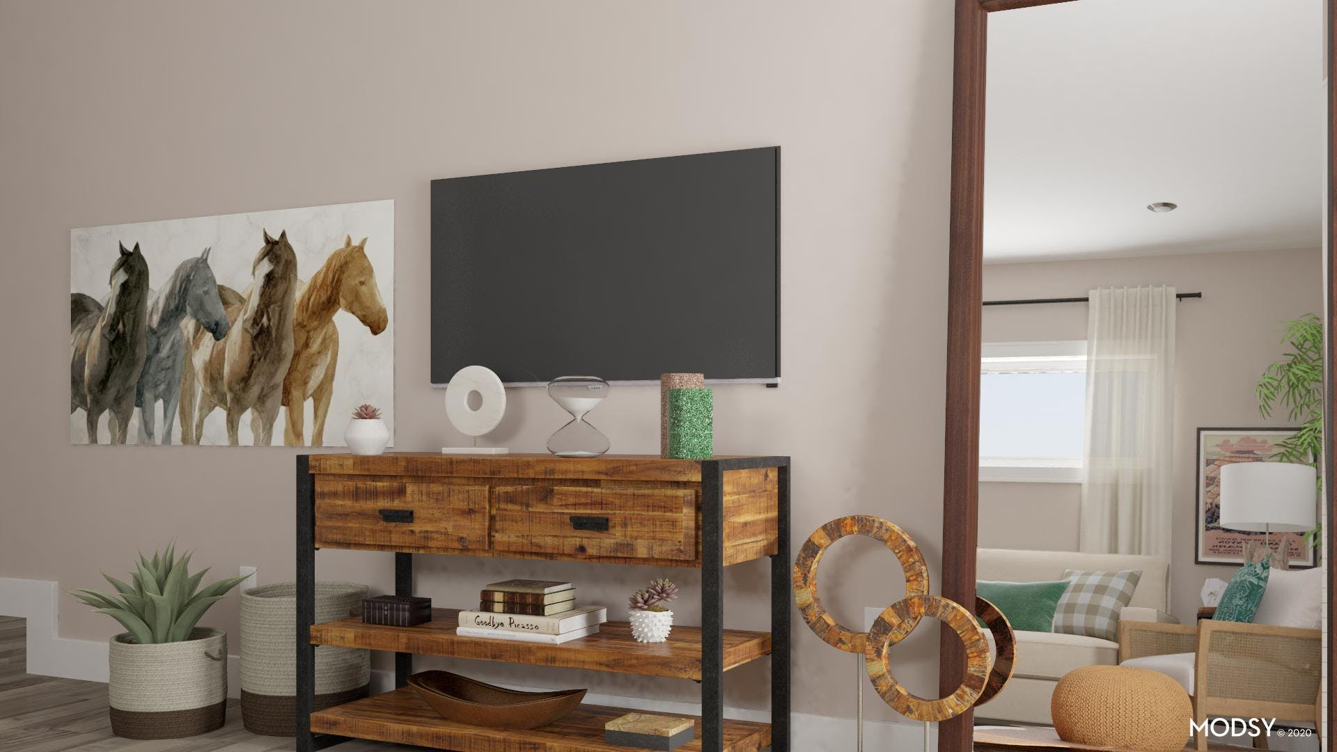 Distressed Media Console: Rustic Flair