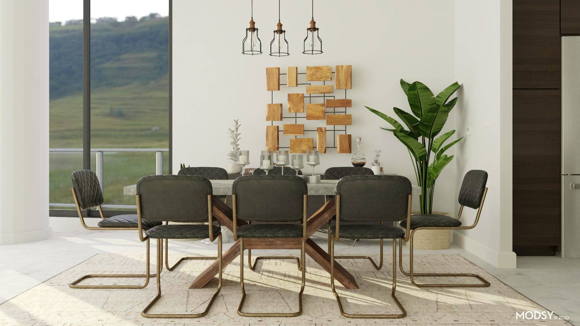 Industrial Dining: Natural Tones