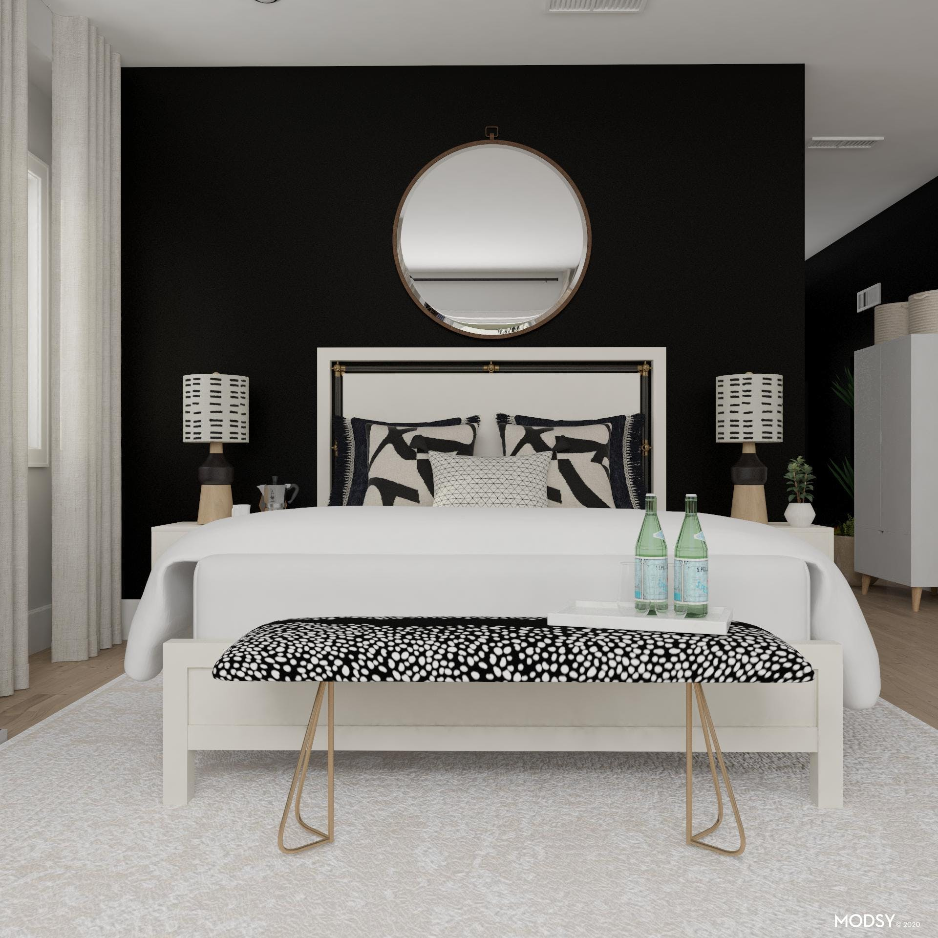 Bold Bedroom For Contemporary People