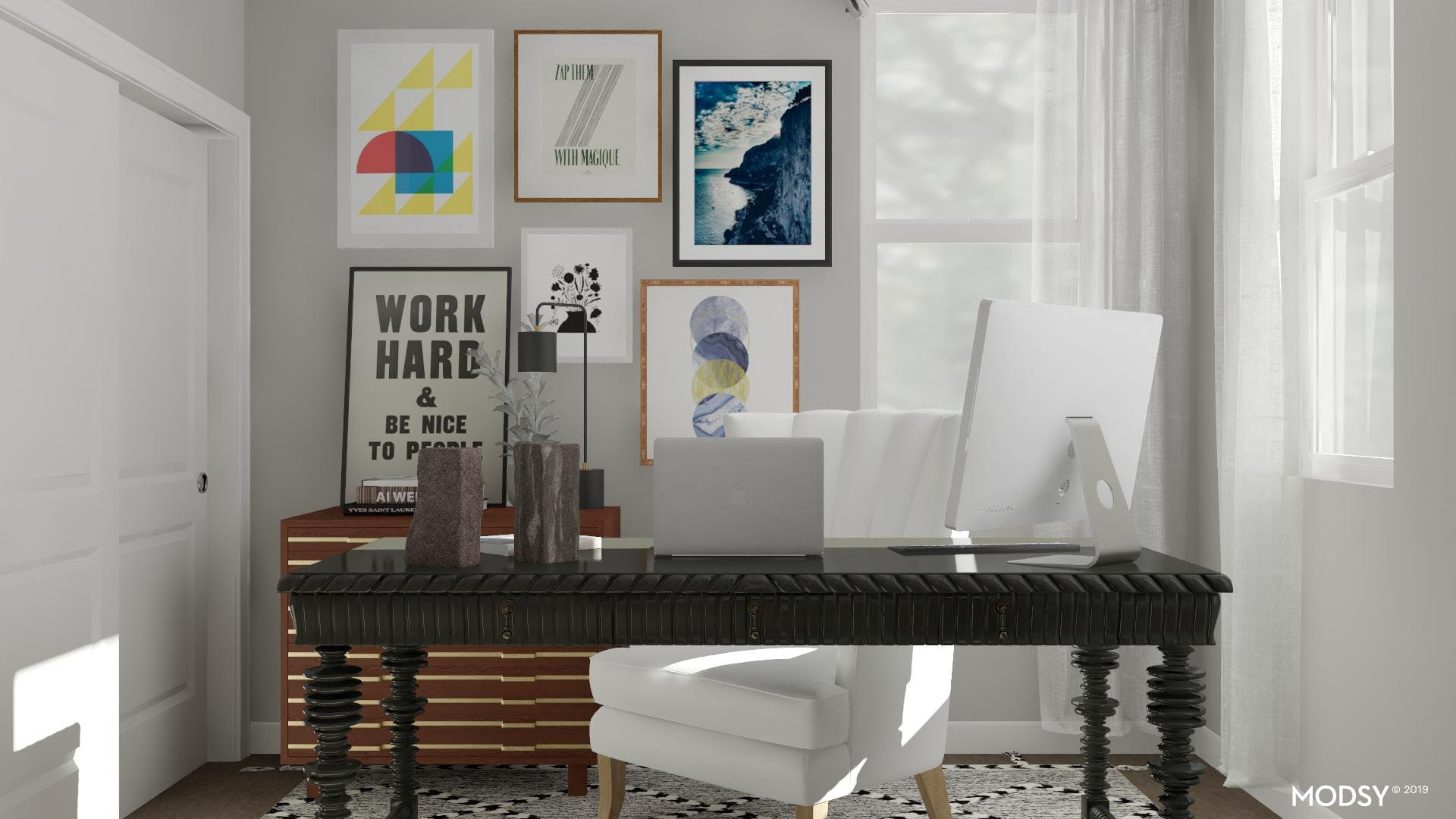 Graphic, Modern Home office