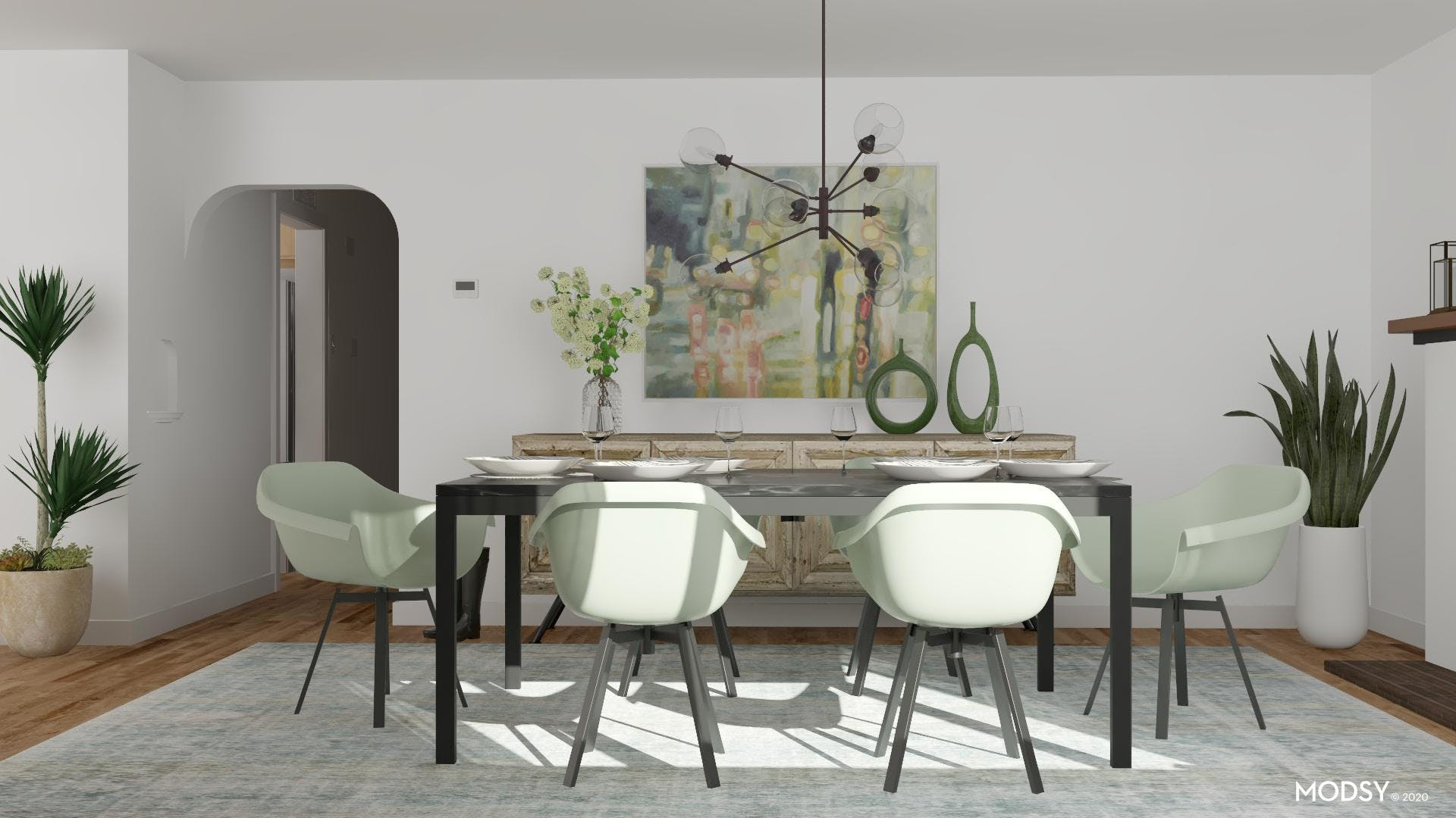Contemporary Dining in Pastels