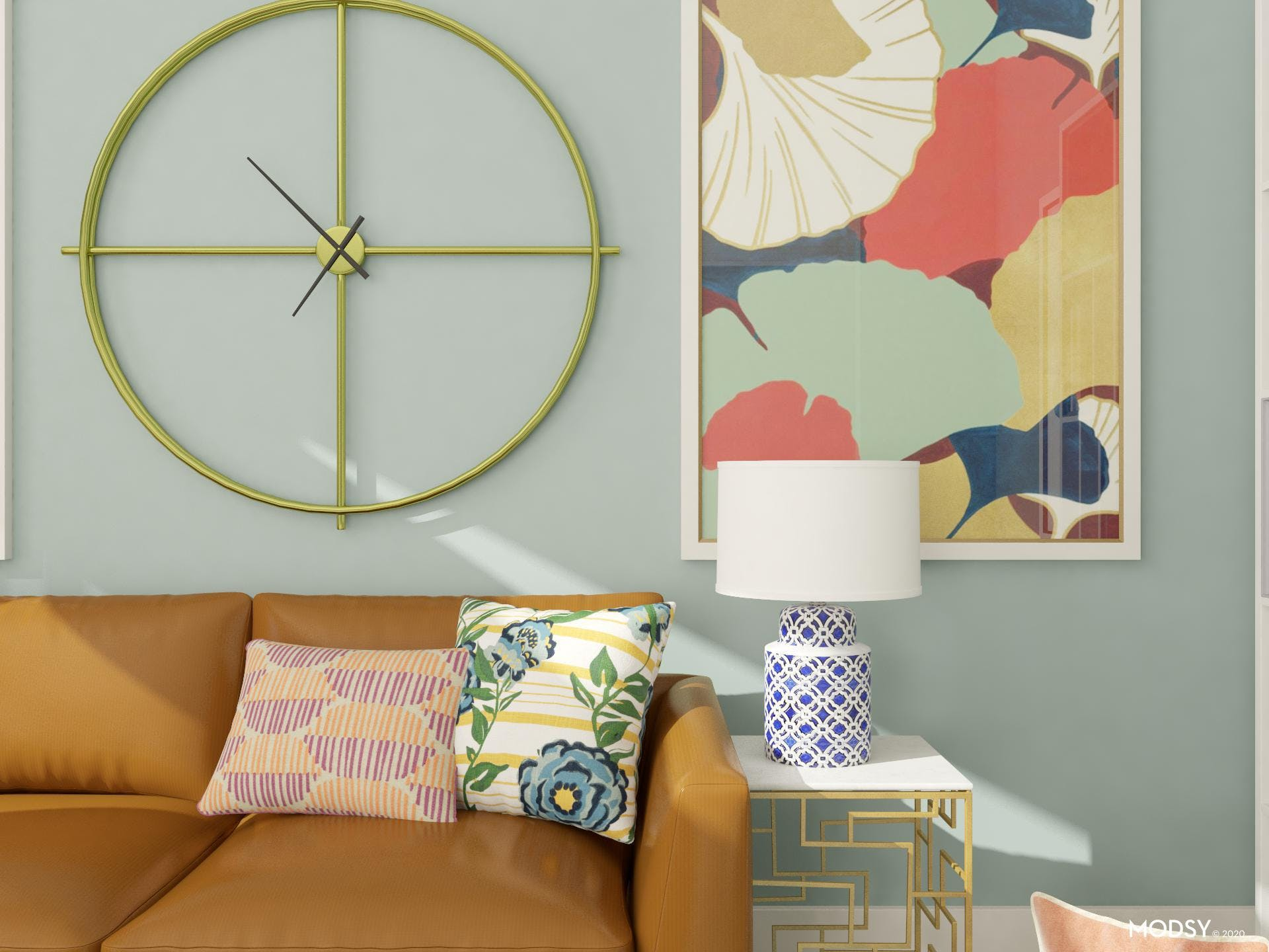 Bright Multicolor: Wall Art And Pillows